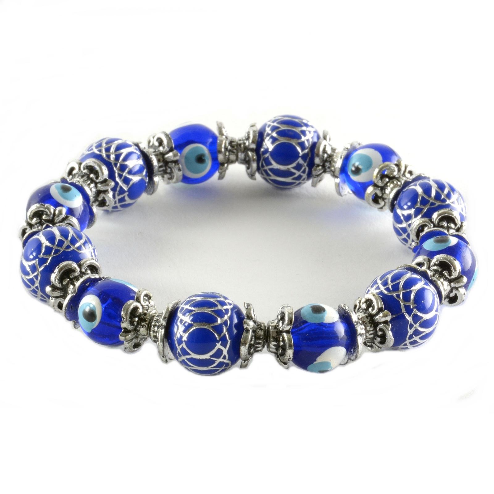 Charm Bracelet Evil Eye Good Luck Beads Nazar Boncuk