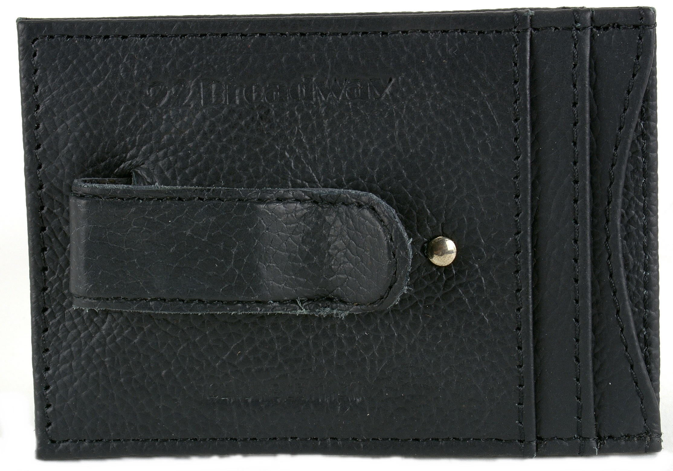 Mens Leather Money Clip Wallet Thin Slim Minimalist 4 Card