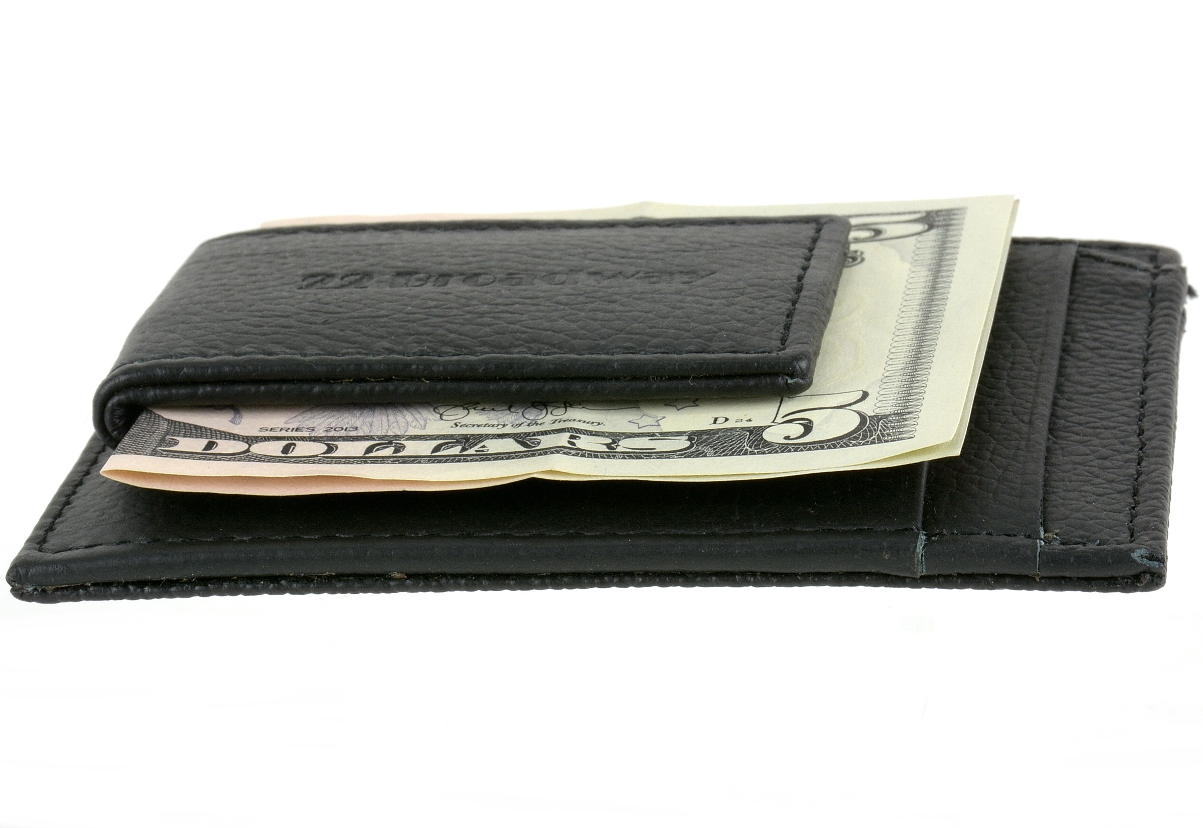pd525 (11) leather money clip wallet card case id window strong rare earth  at arjmand.co