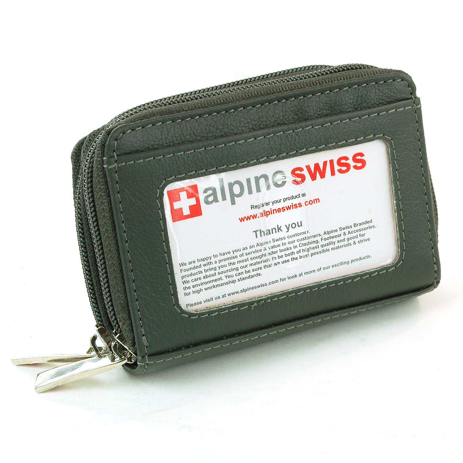 Credit Coin: AlpineSwiss Womens Mini Wallet Leather Organizer Credit