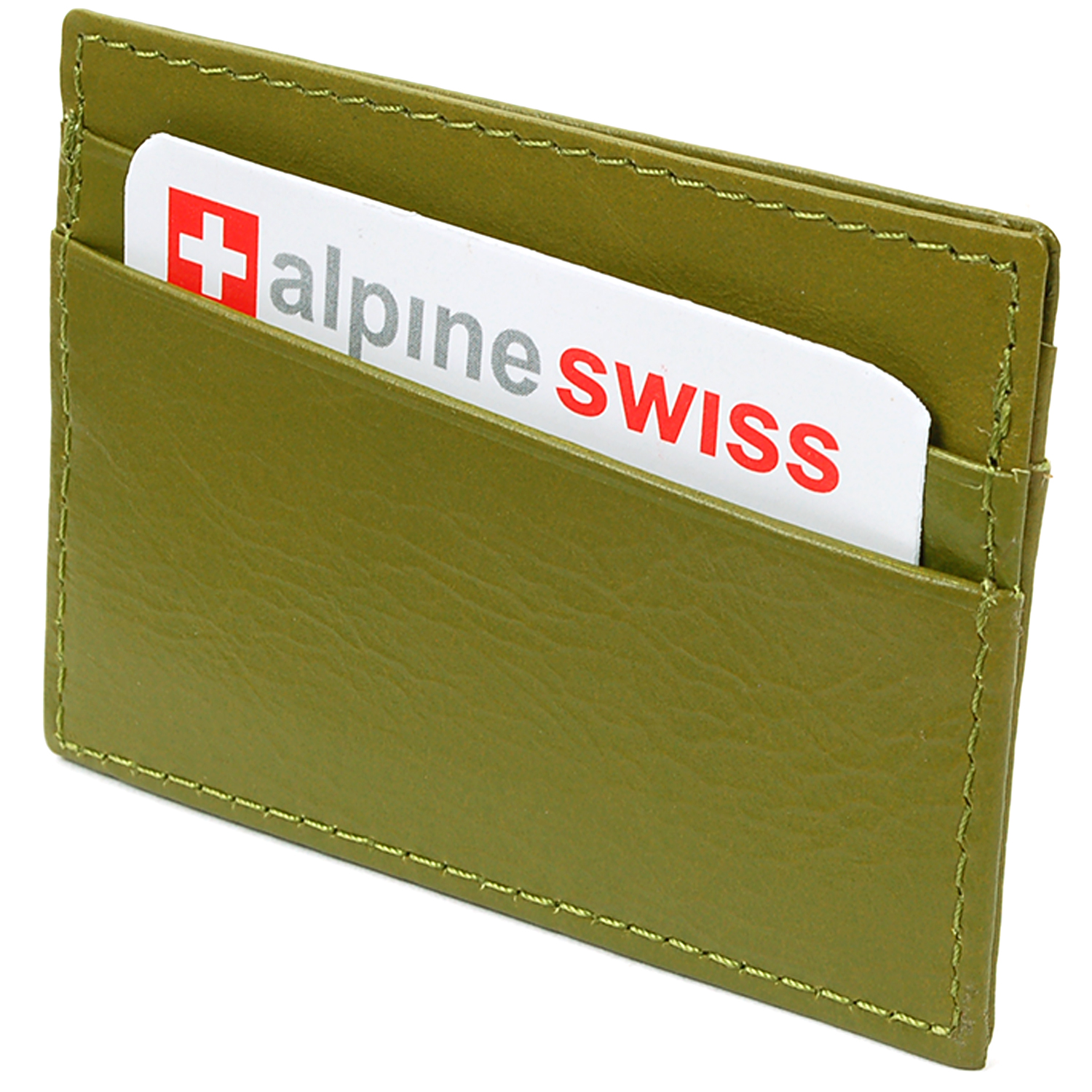Alpine-Swiss-Super-Slim-Card-Case-Genuine-Leather-ID-Holder-Front-Pocket-Wallet thumbnail 29