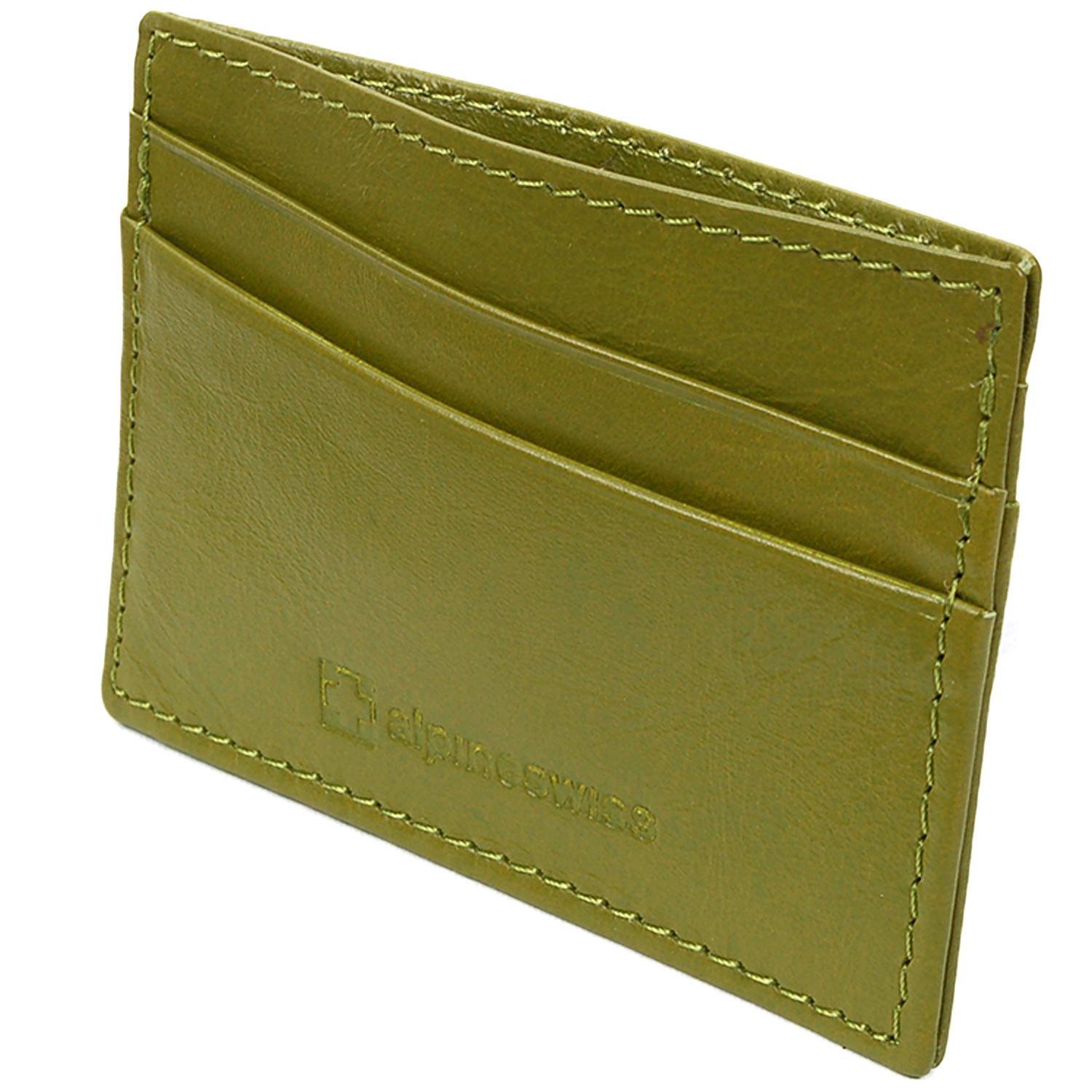 Alpine-Swiss-Super-Slim-Card-Case-Genuine-Leather-ID-Holder-Front-Pocket-Wallet thumbnail 30