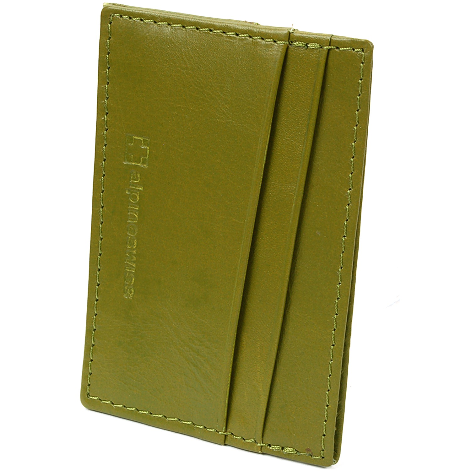 Alpine-Swiss-Super-Slim-Card-Case-Genuine-Leather-ID-Holder-Front-Pocket-Wallet thumbnail 33