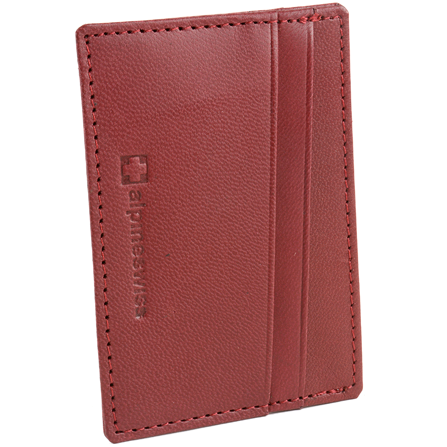 Alpine-Swiss-Super-Slim-Card-Case-Genuine-Leather-ID-Holder-Front-Pocket-Wallet thumbnail 25