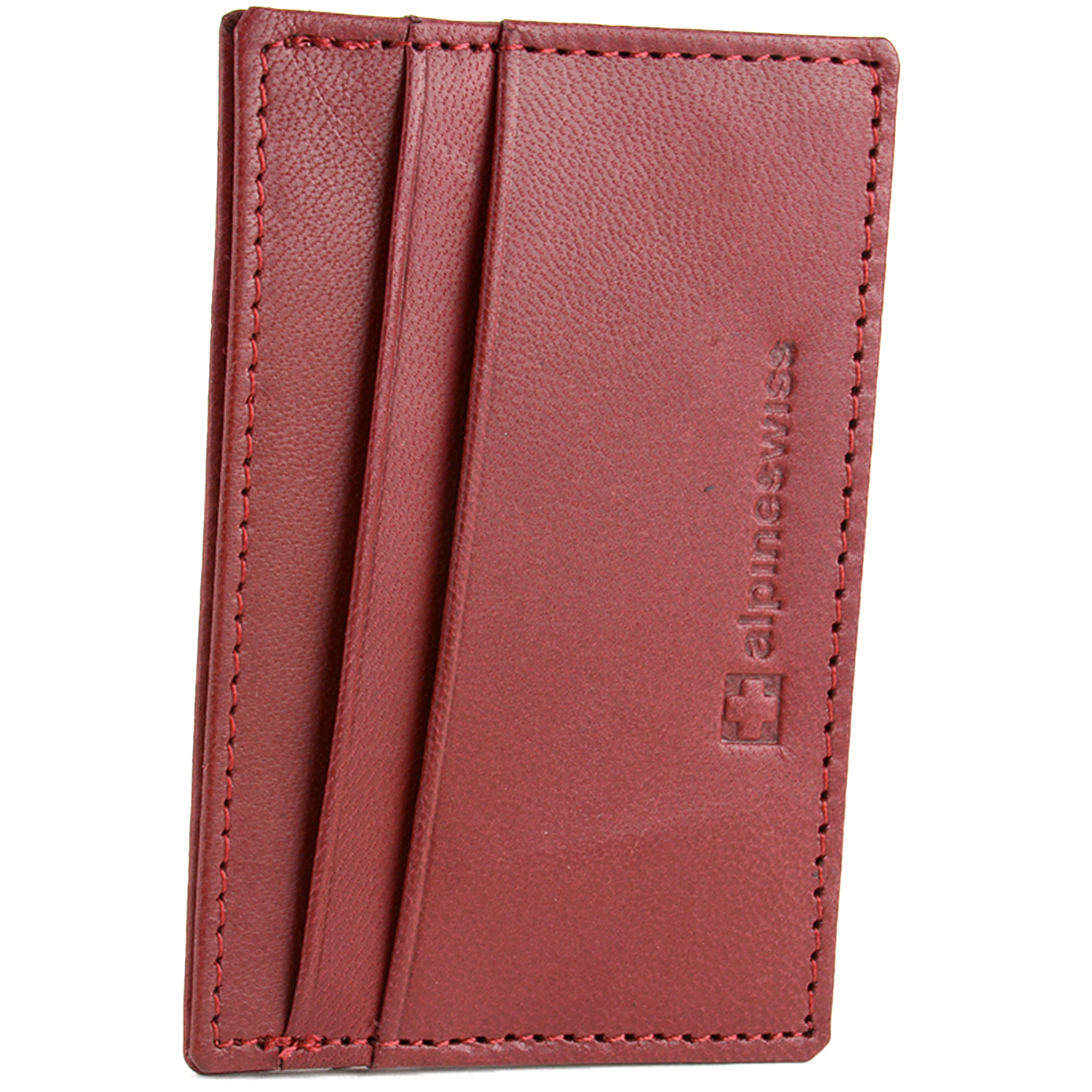 Alpine-Swiss-Super-Slim-Card-Case-Genuine-Leather-ID-Holder-Front-Pocket-Wallet thumbnail 26