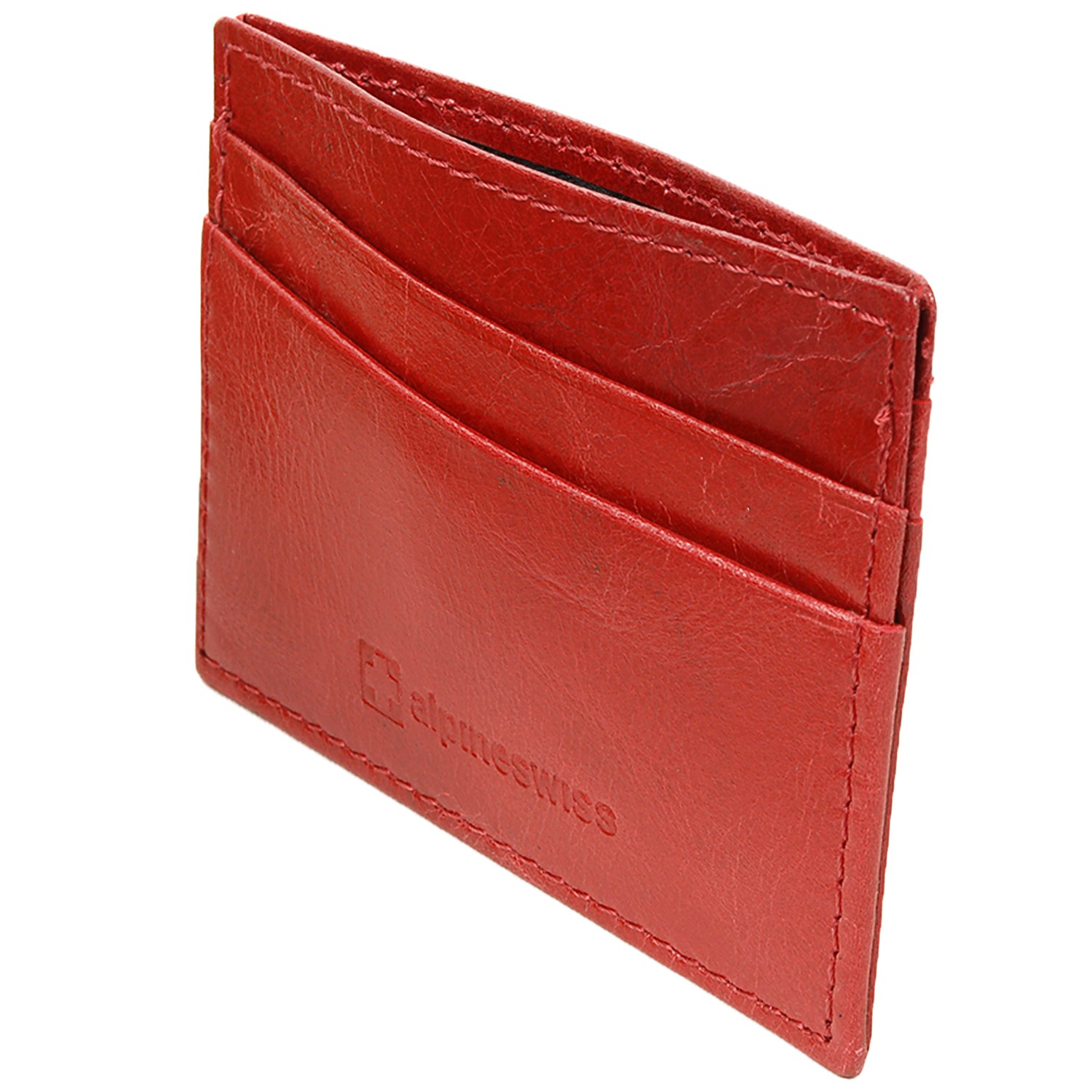 Alpine-Swiss-Super-Slim-Card-Case-Genuine-Leather-ID-Holder-Front-Pocket-Wallet thumbnail 39