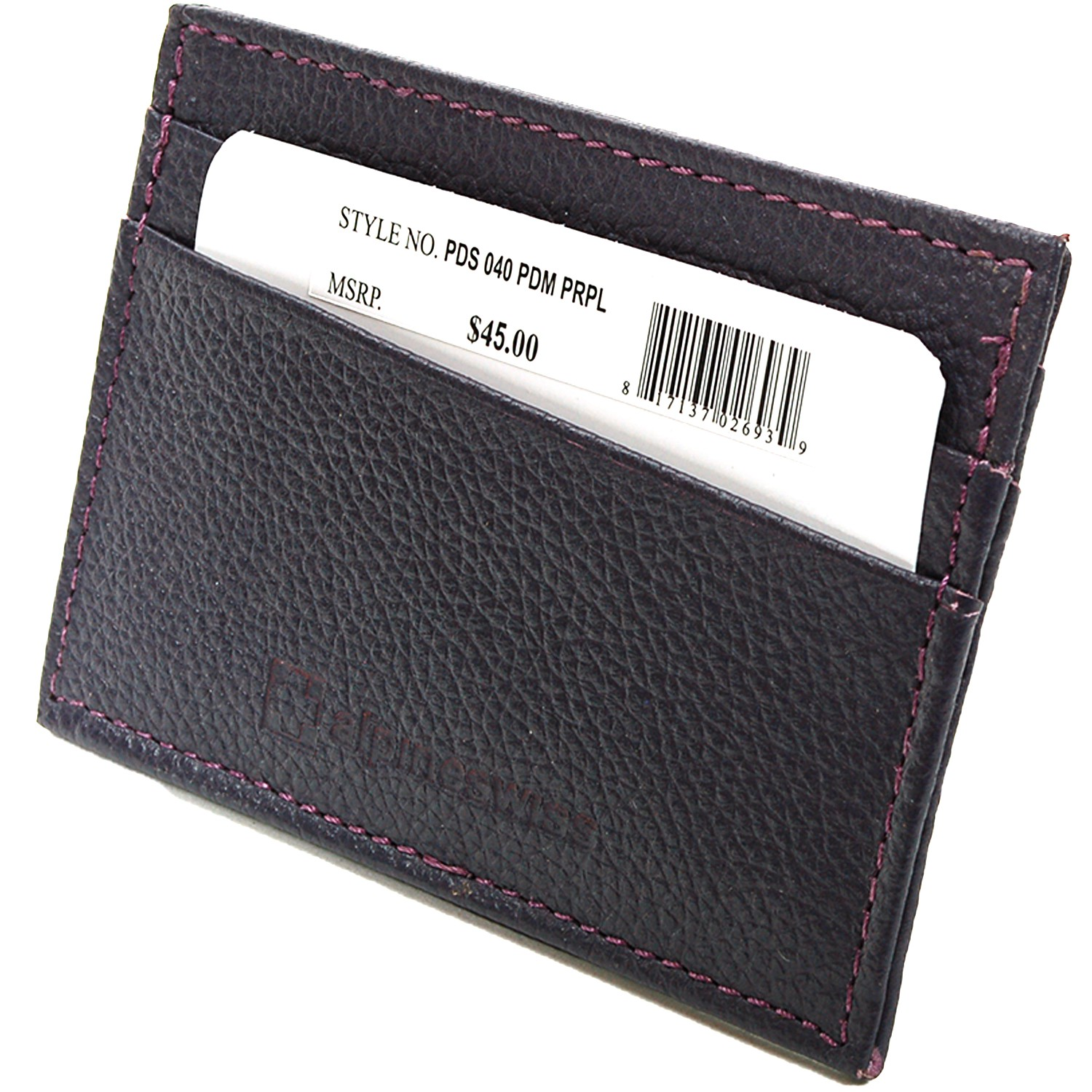 Alpine-Swiss-Super-Slim-Card-Case-Genuine-Leather-ID-Holder-Front-Pocket-Wallet thumbnail 68