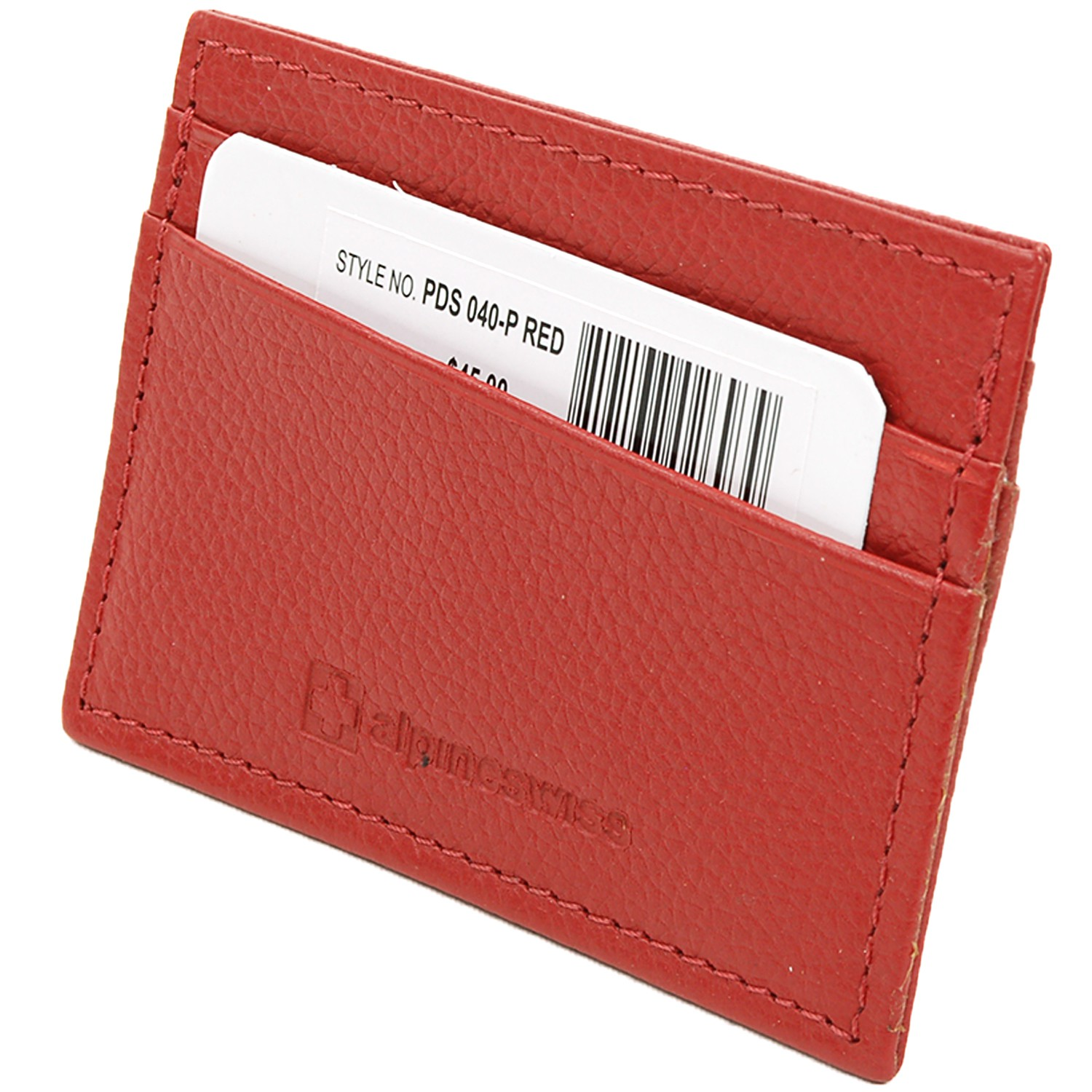 Alpine-Swiss-Super-Slim-Card-Case-Genuine-Leather-ID-Holder-Front-Pocket-Wallet thumbnail 73