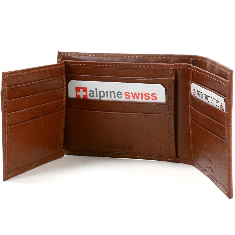 Alpine Swiss RFID Blocking Mens Bifold Wallet Keep ...