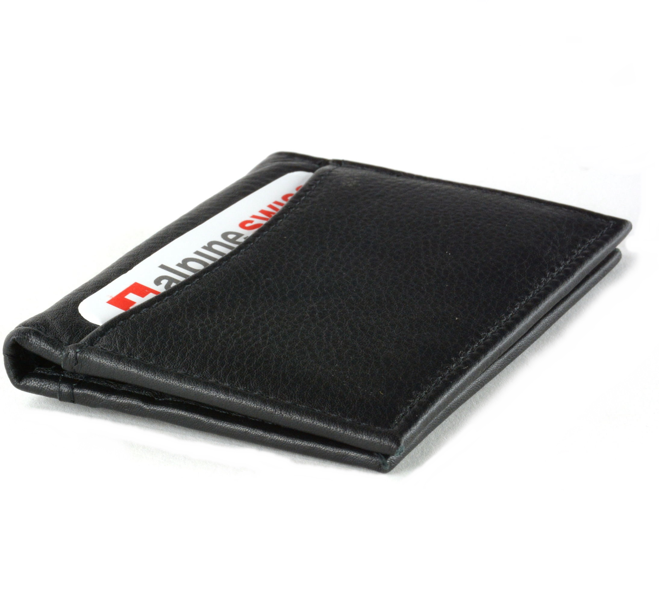 Alpine swiss thin front pocket wallet business card case 2 id window alpine swiss thin front pocket wallet business card colourmoves