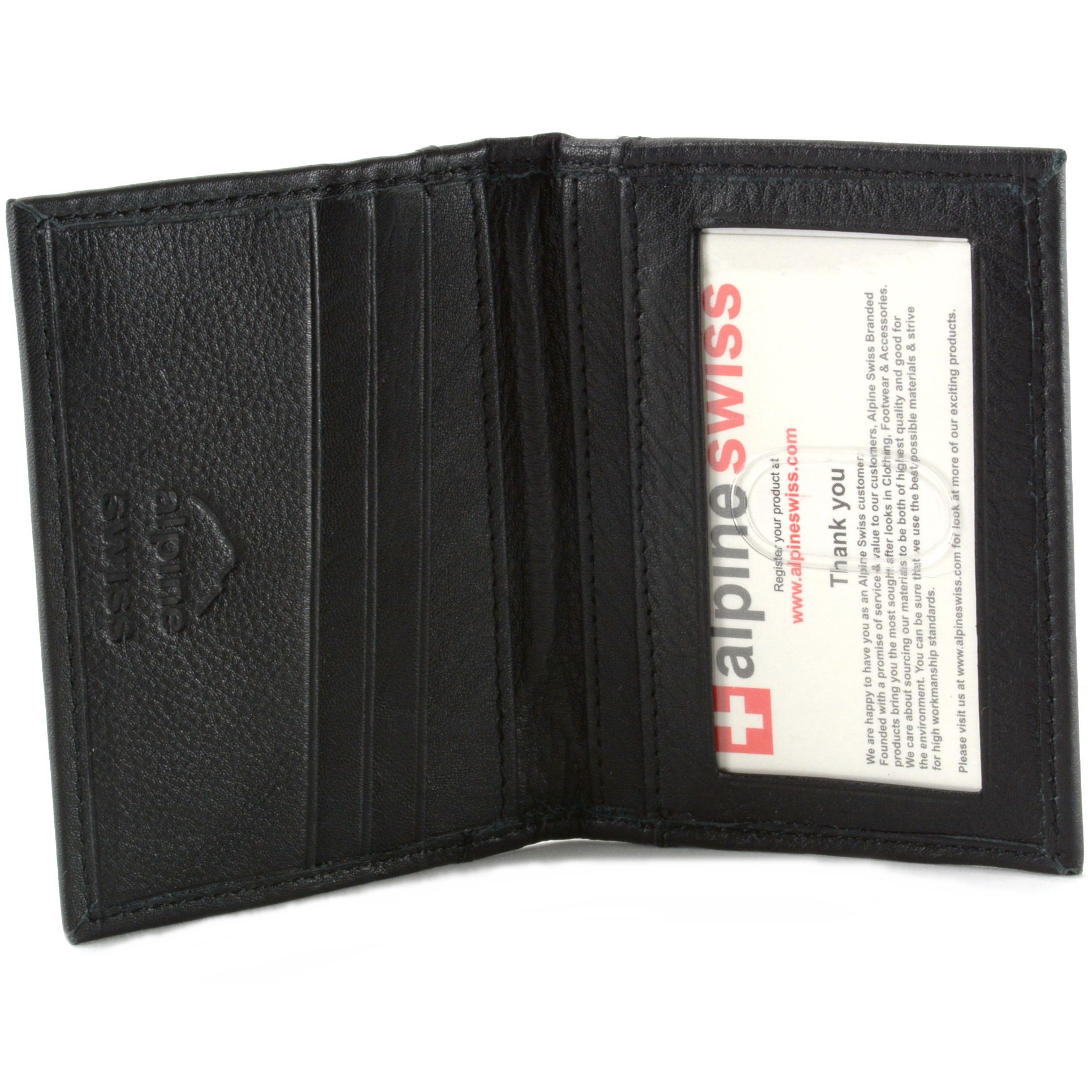 Alpine swiss thin front pocket wallet business card case 2 id picture 18 of 20 magicingreecefo Gallery