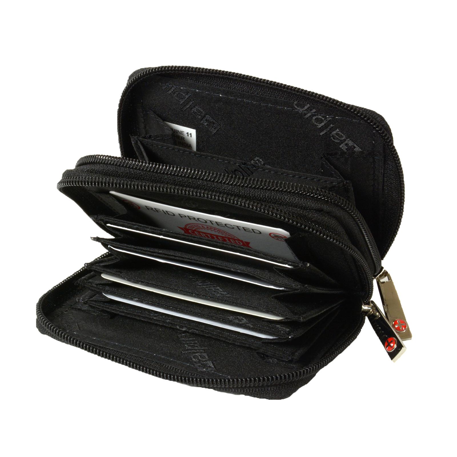 0cda32f88fd Details about Alpine Swiss Womens Accordion Organizer Wallet Leather Credit  Card Case ID