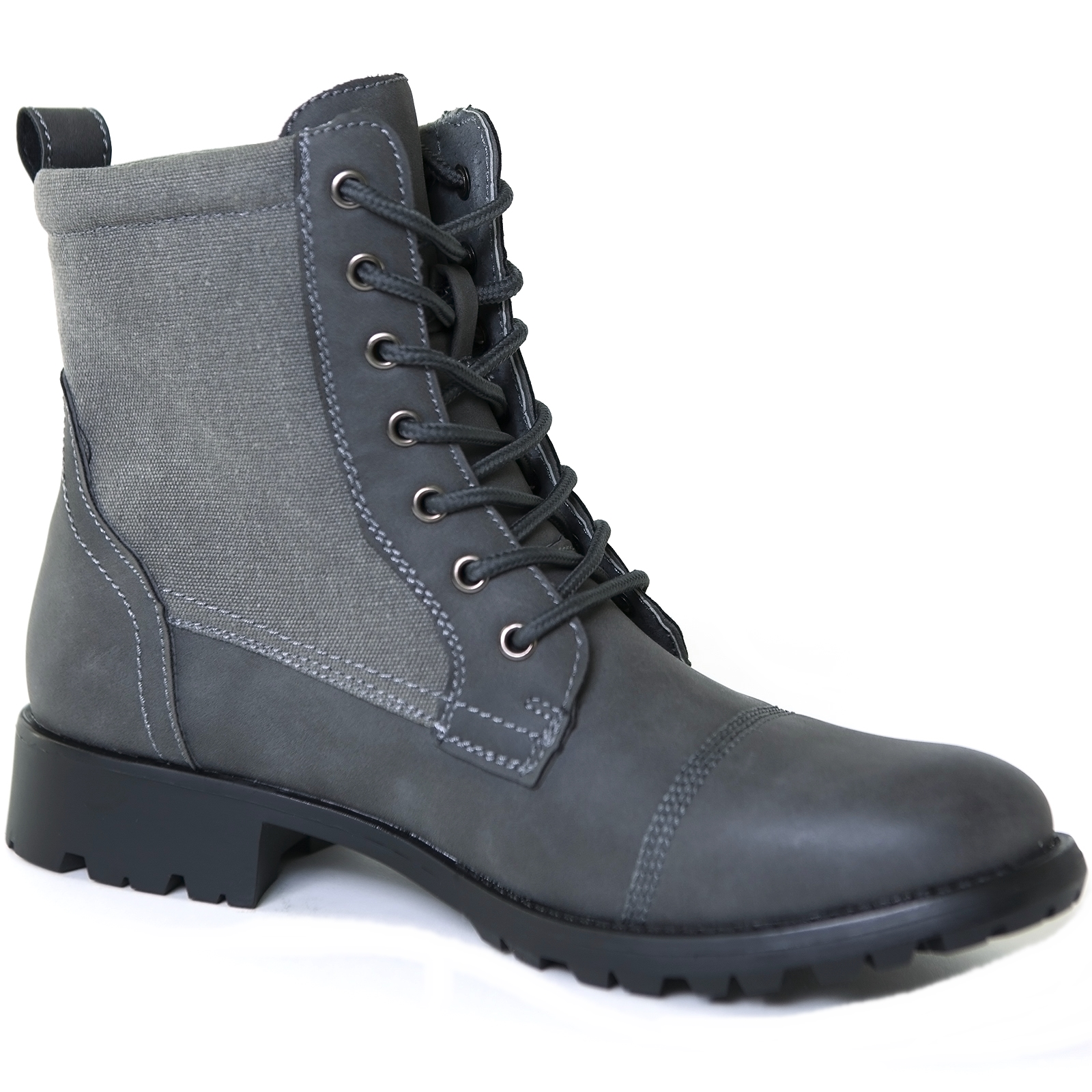 Alpine Swiss Men's Combat Boots Lug Sole Rugged Canvas ...