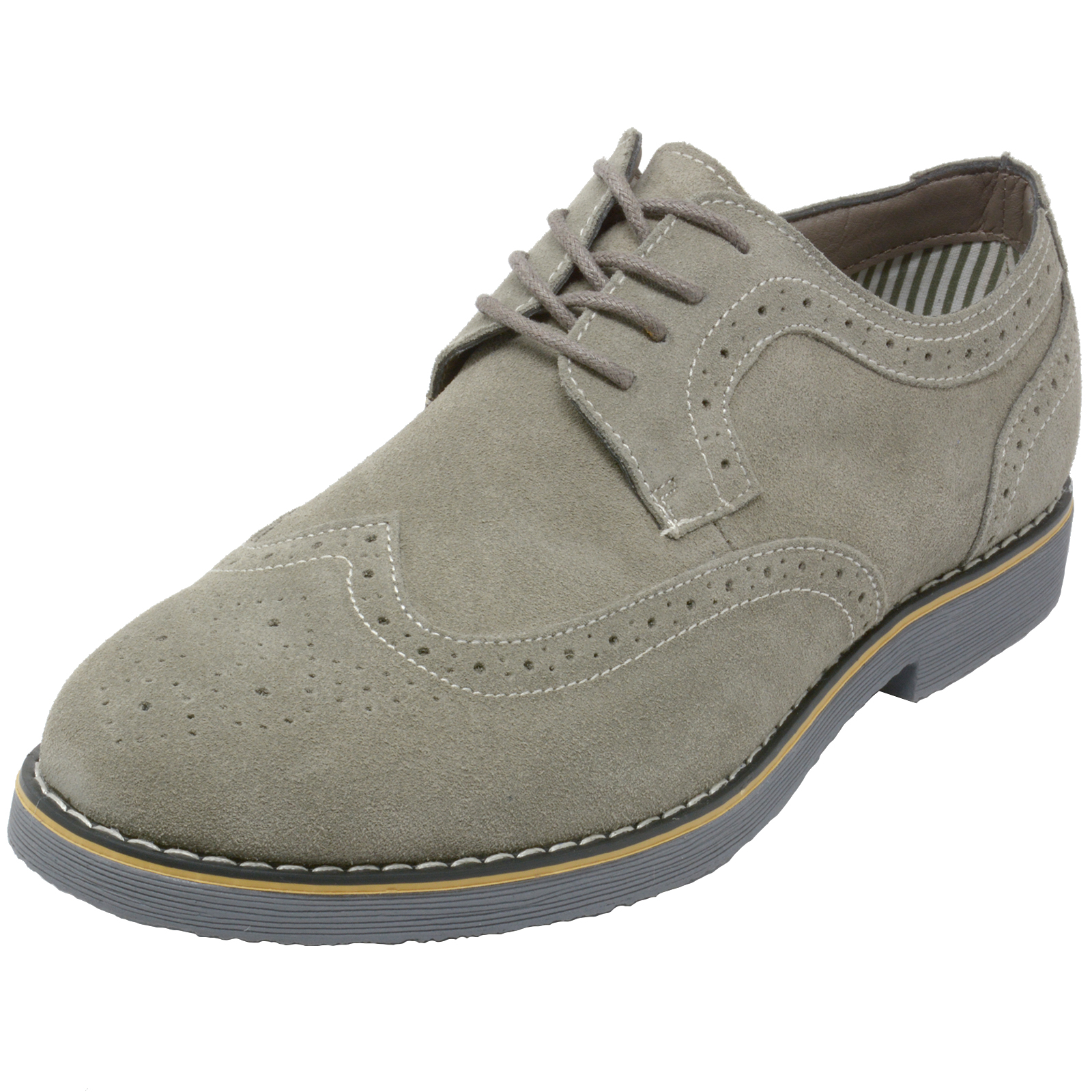 Alpine-Swiss-Beau-Mens-Dress-Shoes-Genuine-Suede-Wing-Tip-Brogue-Lace-Up-Oxfords thumbnail 17