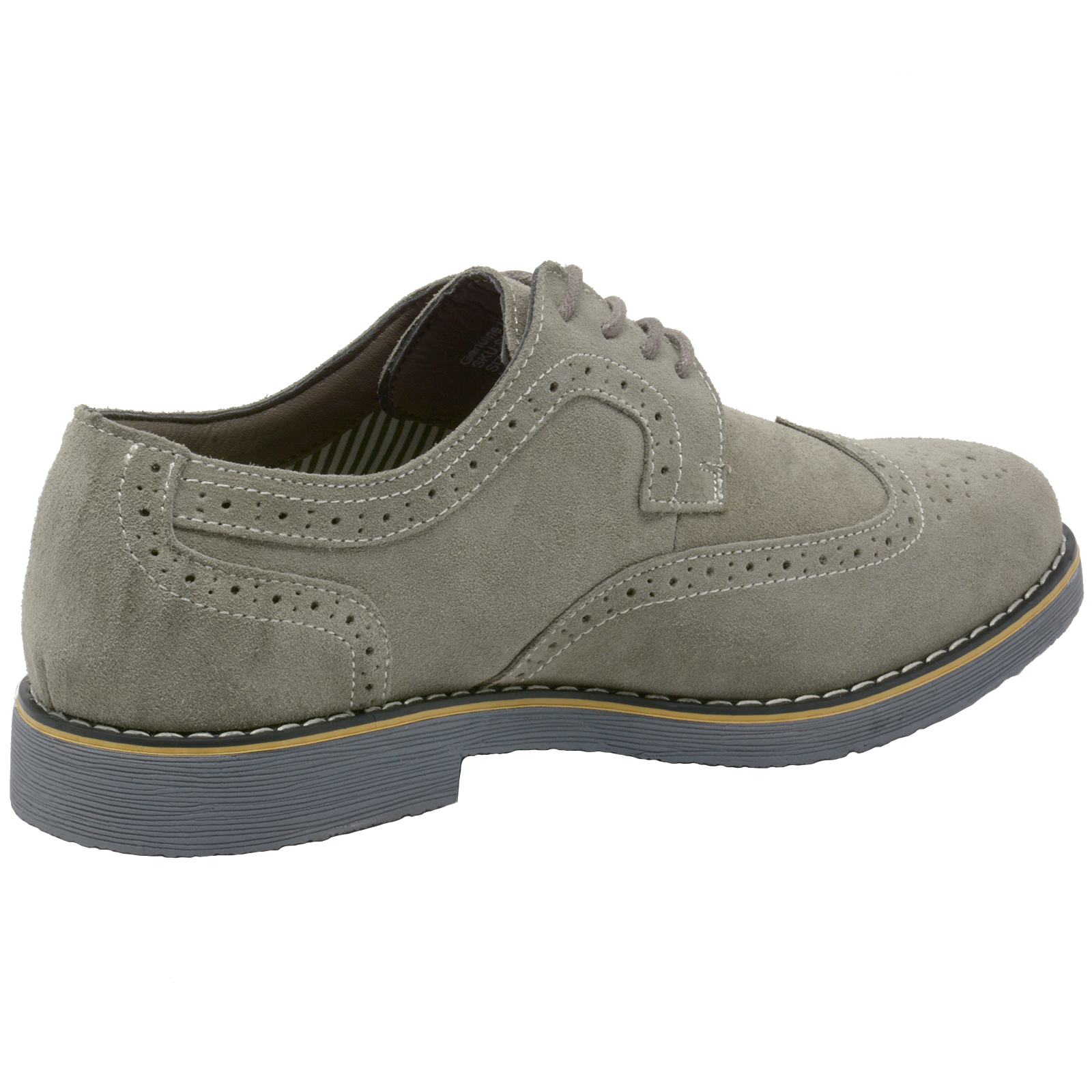 Alpine-Swiss-Beau-Mens-Dress-Shoes-Genuine-Suede-Wing-Tip-Brogue-Lace-Up-Oxfords thumbnail 18