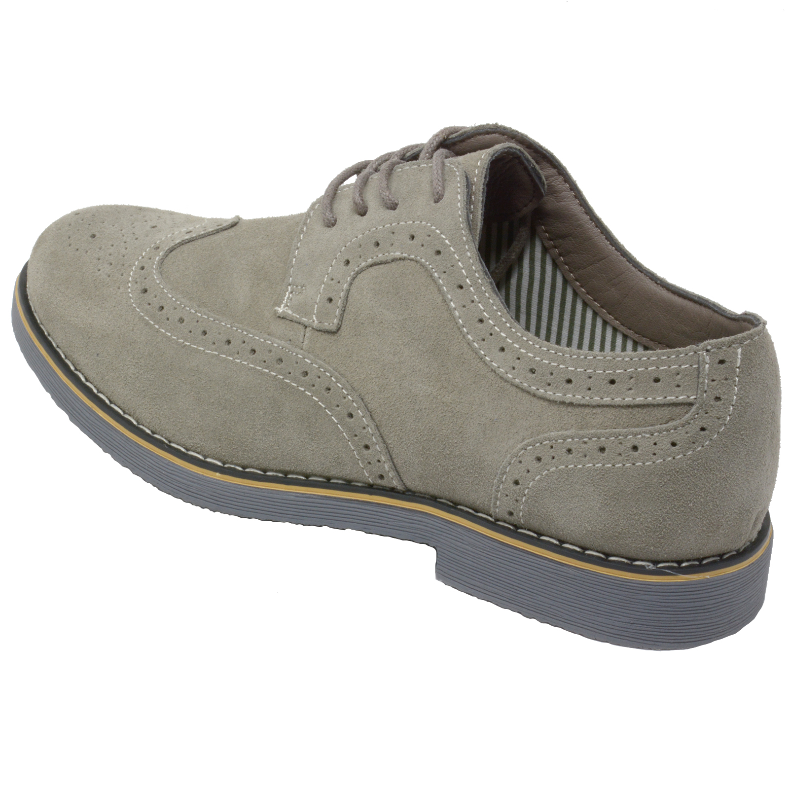 Alpine-Swiss-Beau-Mens-Dress-Shoes-Genuine-Suede-Wing-Tip-Brogue-Lace-Up-Oxfords thumbnail 20