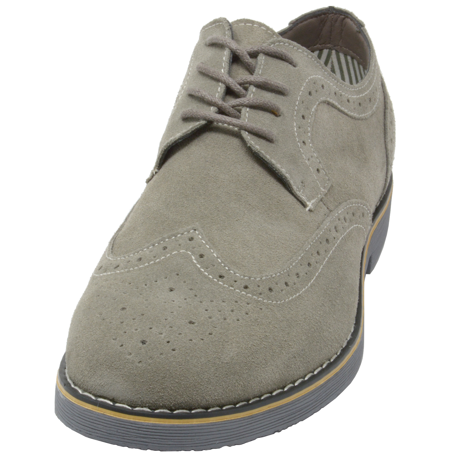 Alpine-Swiss-Beau-Mens-Dress-Shoes-Genuine-Suede-Wing-Tip-Brogue-Lace-Up-Oxfords thumbnail 15