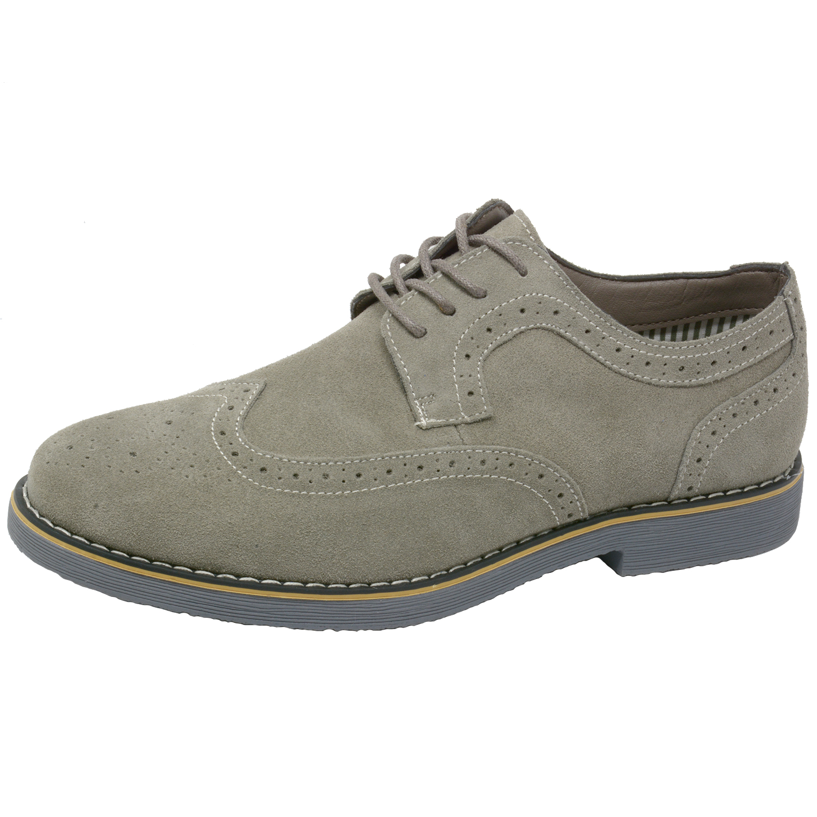 Alpine-Swiss-Beau-Mens-Dress-Shoes-Genuine-Suede-Wing-Tip-Brogue-Lace-Up-Oxfords thumbnail 19
