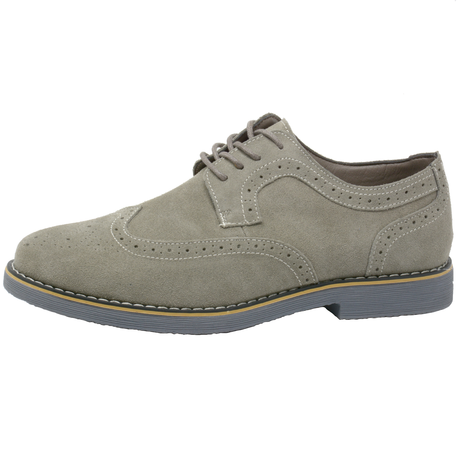 Alpine-Swiss-Beau-Mens-Dress-Shoes-Genuine-Suede-Wing-Tip-Brogue-Lace-Up-Oxfords thumbnail 21