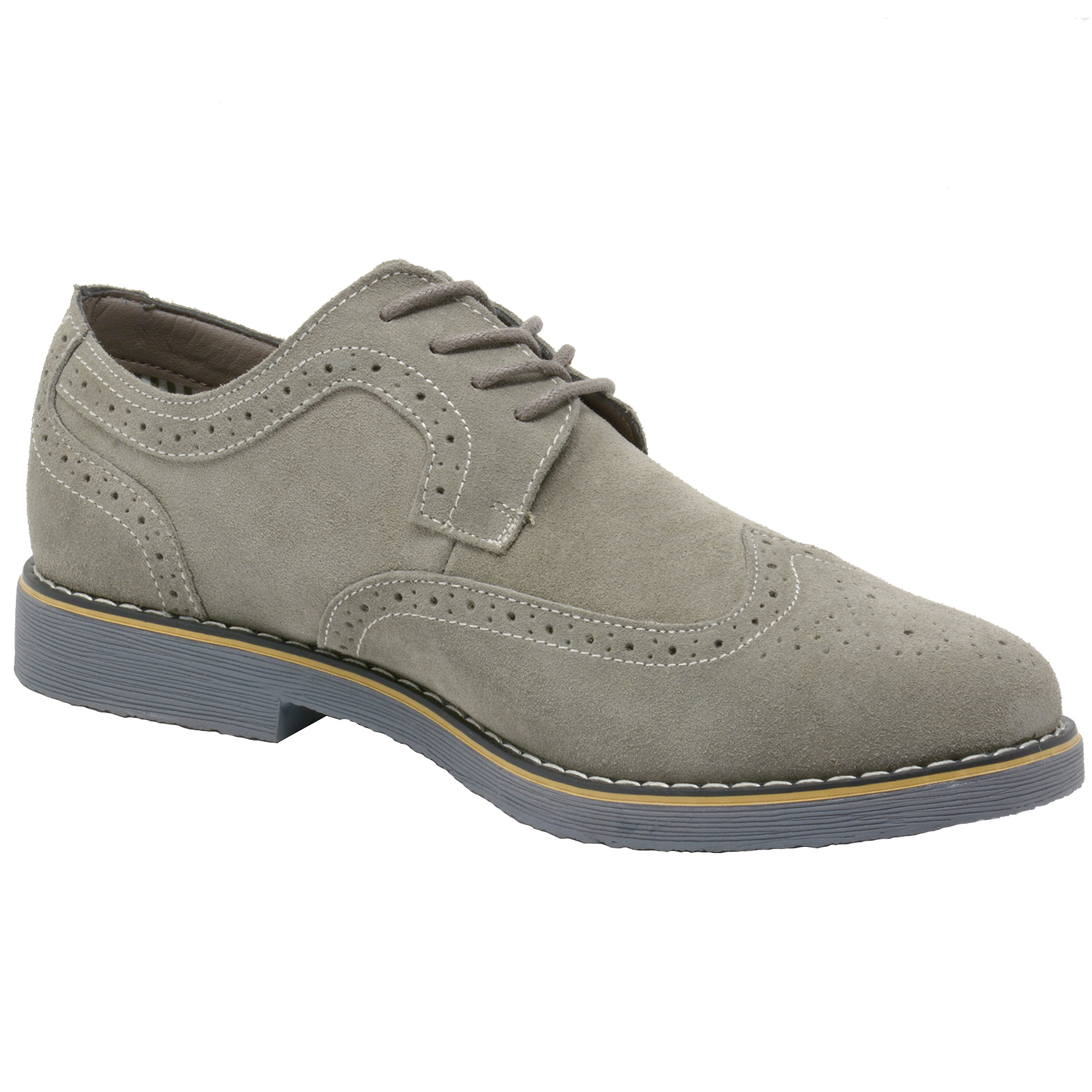 Alpine-Swiss-Beau-Mens-Dress-Shoes-Genuine-Suede-Wing-Tip-Brogue-Lace-Up-Oxfords thumbnail 16