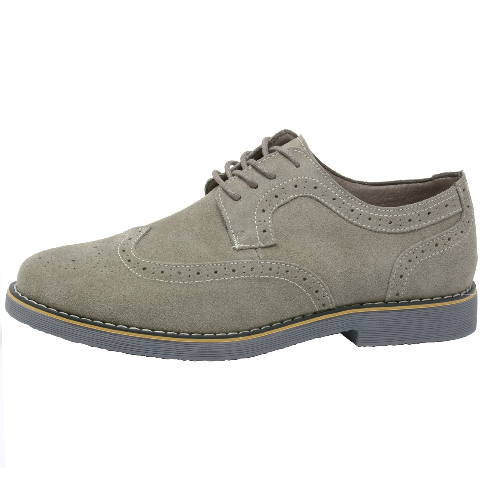 Alpine-Swiss-Beau-Mens-Dress-Shoes-Genuine-Suede-Wing-Tip-Brogue-Lace-Up-Oxfords thumbnail 14