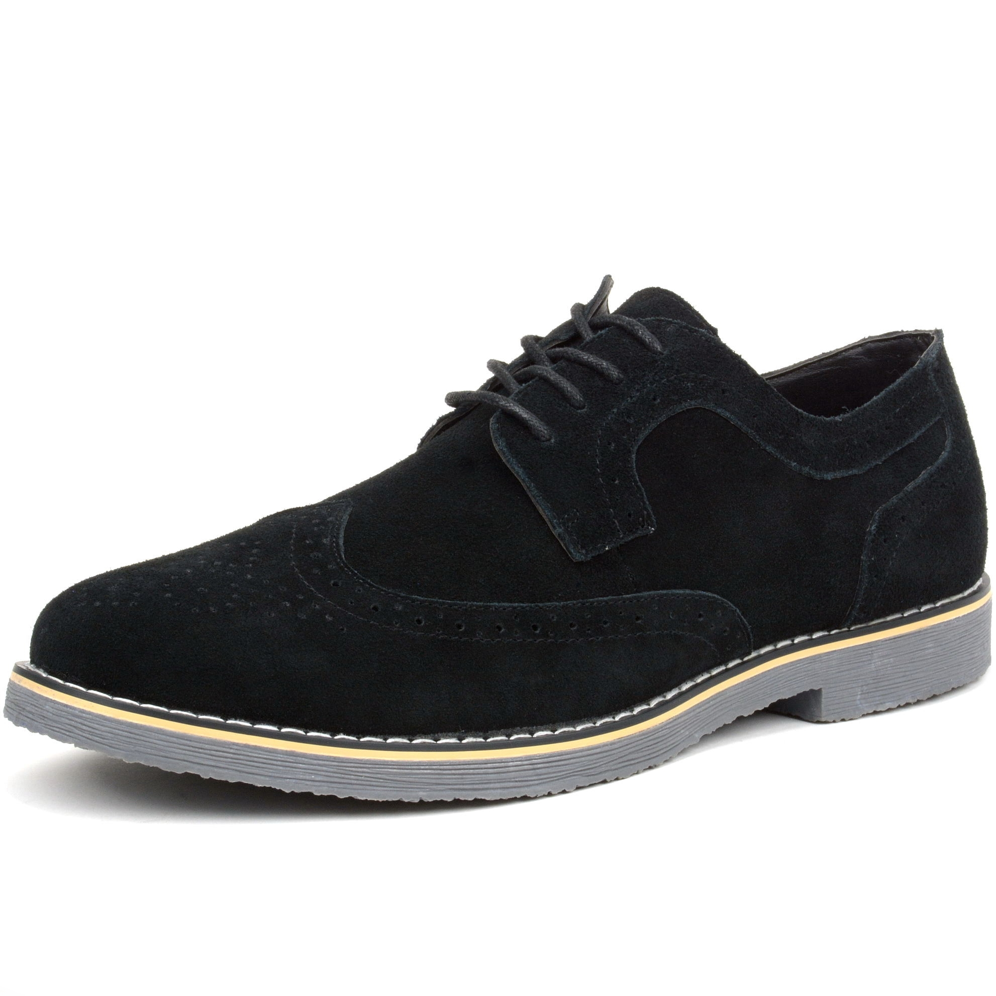 Alpine Swiss Beau Mens Dress Shoes Genuine Suede Wing Tip ...