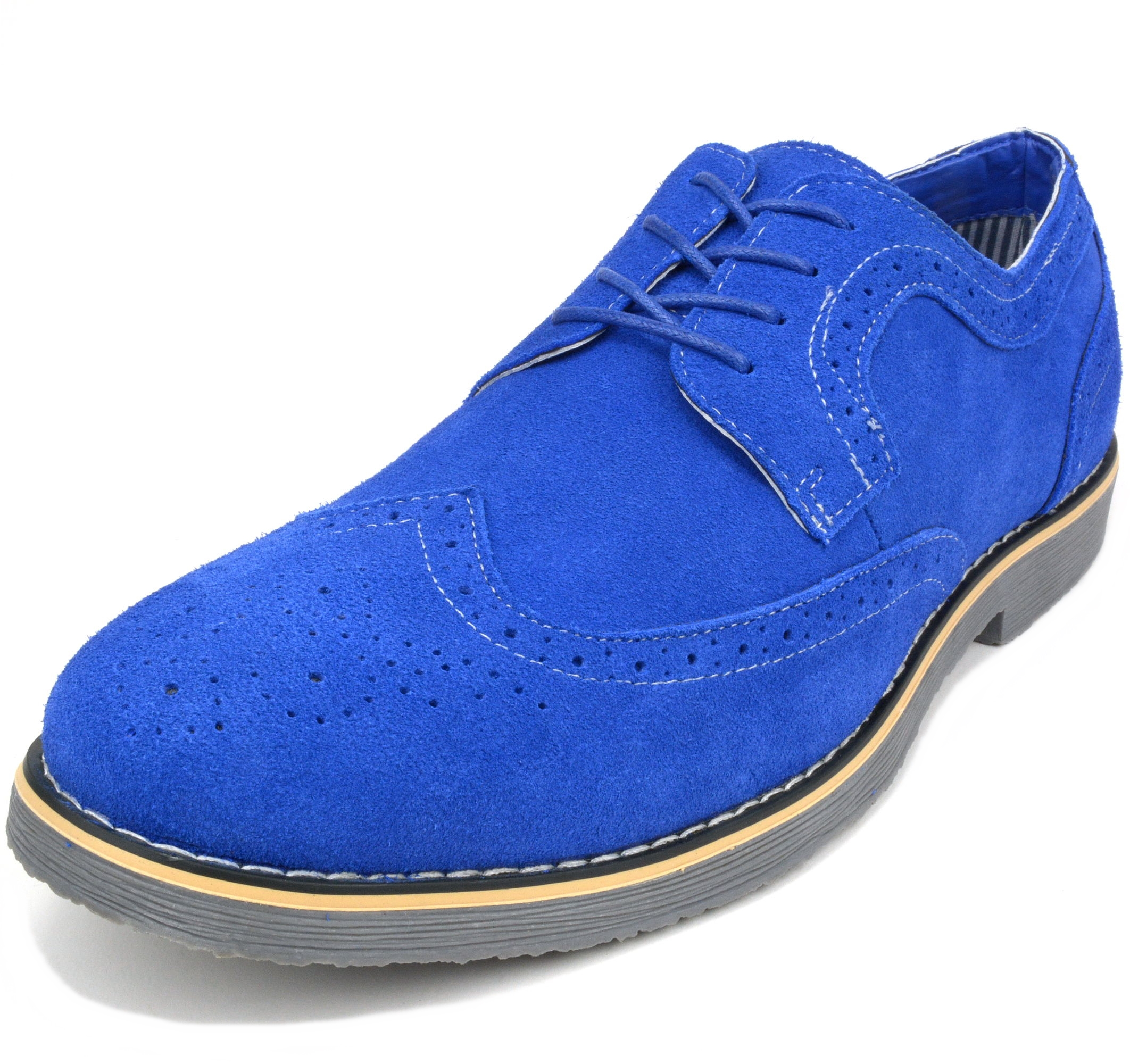 Alpine-Swiss-Beau-Mens-Dress-Shoes-Genuine-Suede-Wing-Tip-Brogue-Lace-Up-Oxfords thumbnail 31
