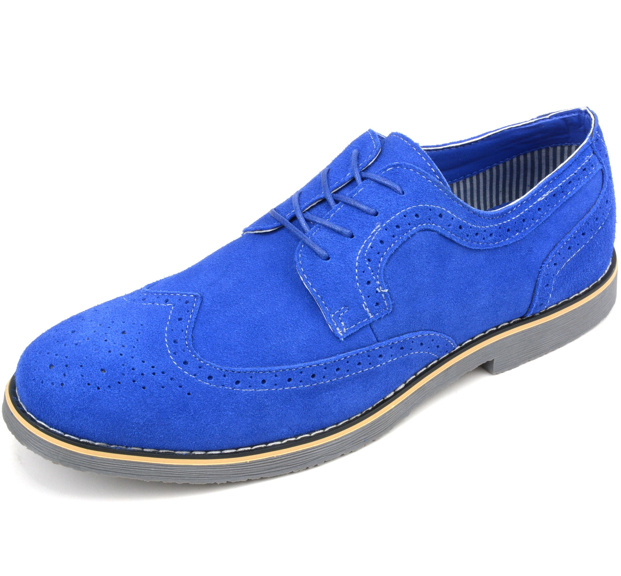 Alpine-Swiss-Beau-Mens-Dress-Shoes-Genuine-Suede-Wing-Tip-Brogue-Lace-Up-Oxfords thumbnail 32