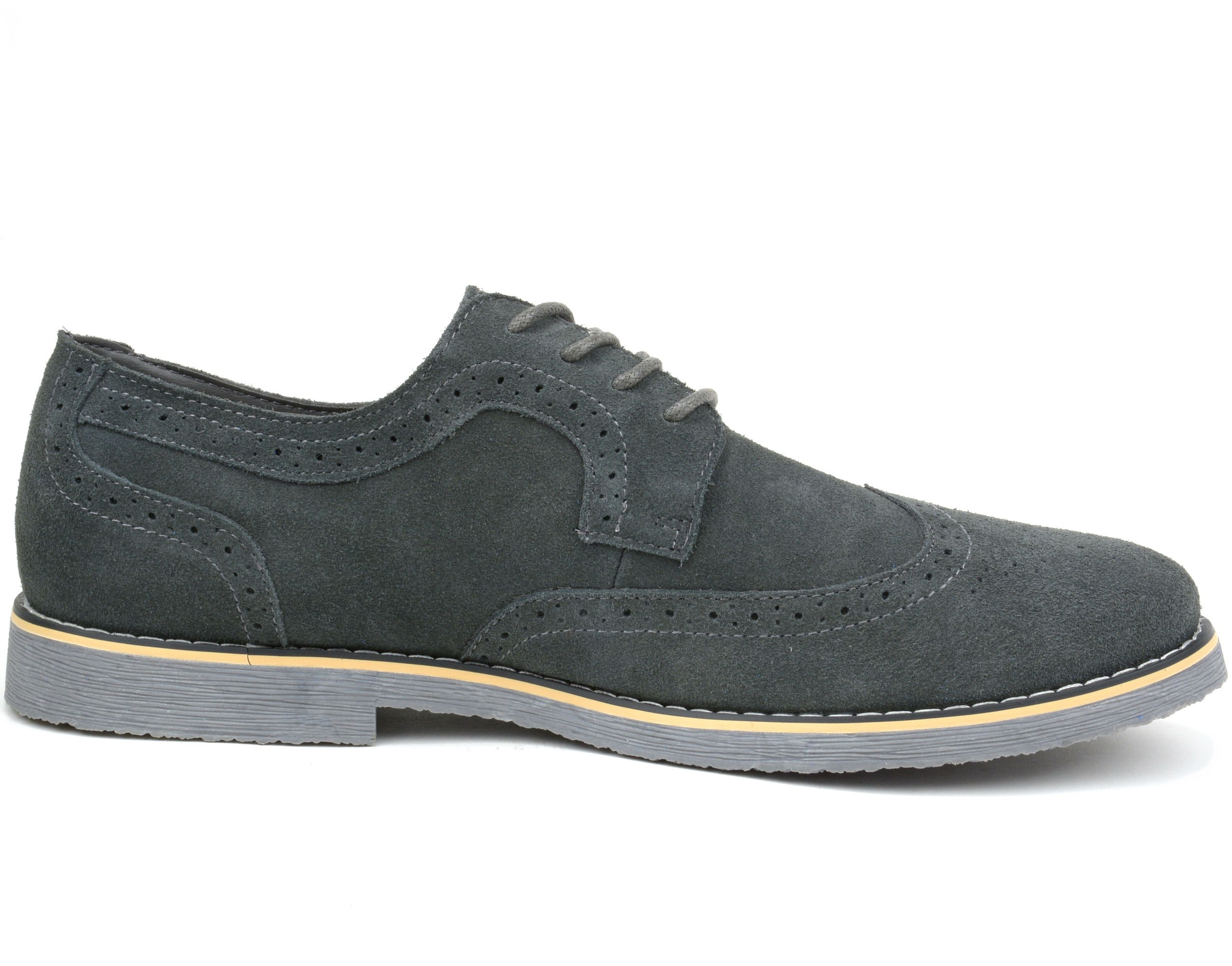 Alpine-Swiss-Beau-Mens-Dress-Shoes-Genuine-Suede-Wing-Tip-Brogue-Lace-Up-Oxfords thumbnail 42