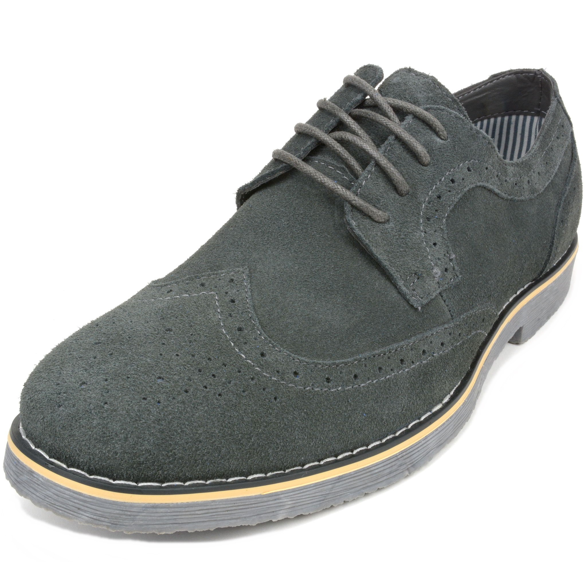 Alpine-Swiss-Beau-Mens-Dress-Shoes-Genuine-Suede-Wing-Tip-Brogue-Lace-Up-Oxfords thumbnail 44