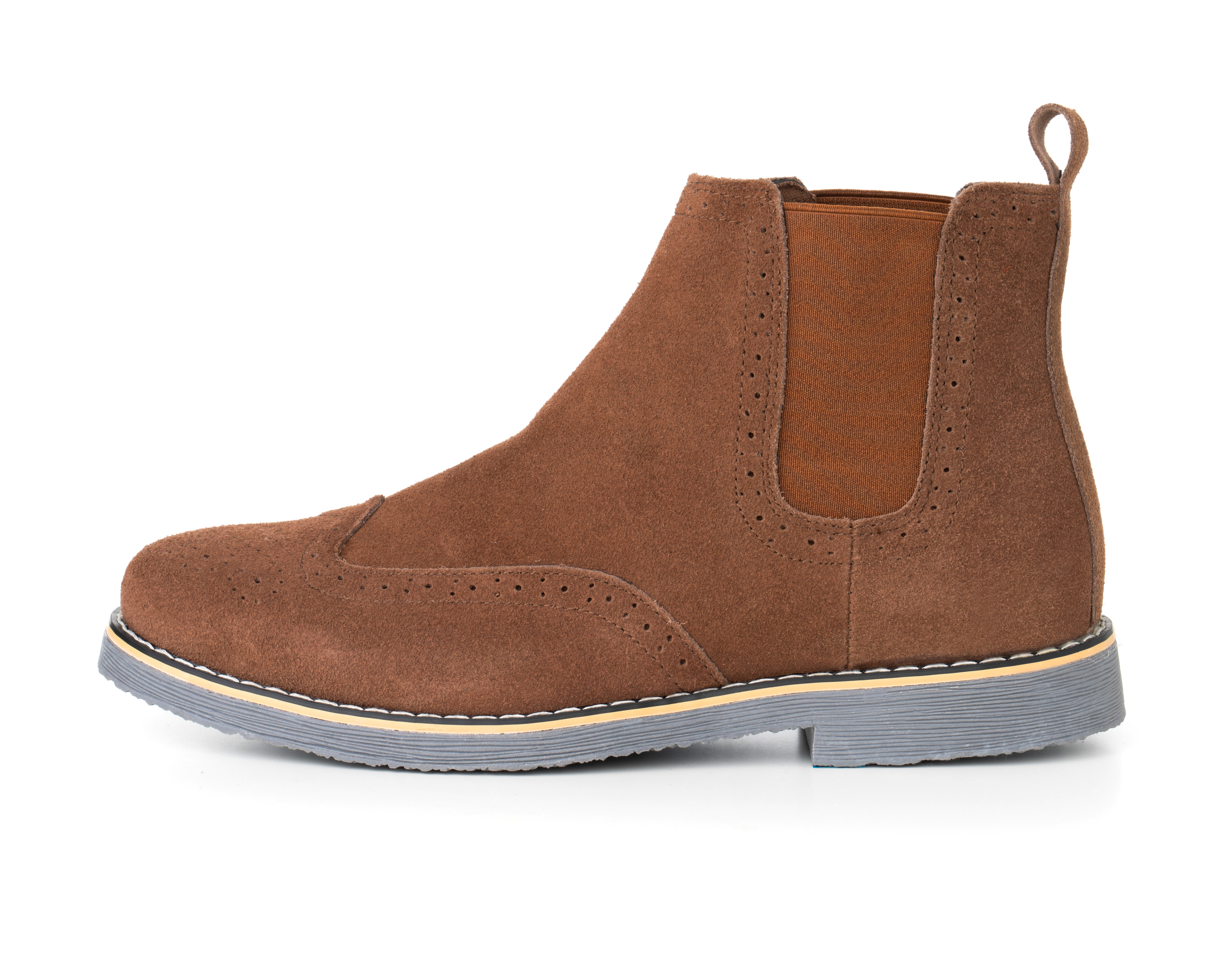 Alpine-Swiss-Mens-Chelsea-Boots-Genuine-Suede-Dress-Ankle-Boots-Wingtip-Shoes miniature 20