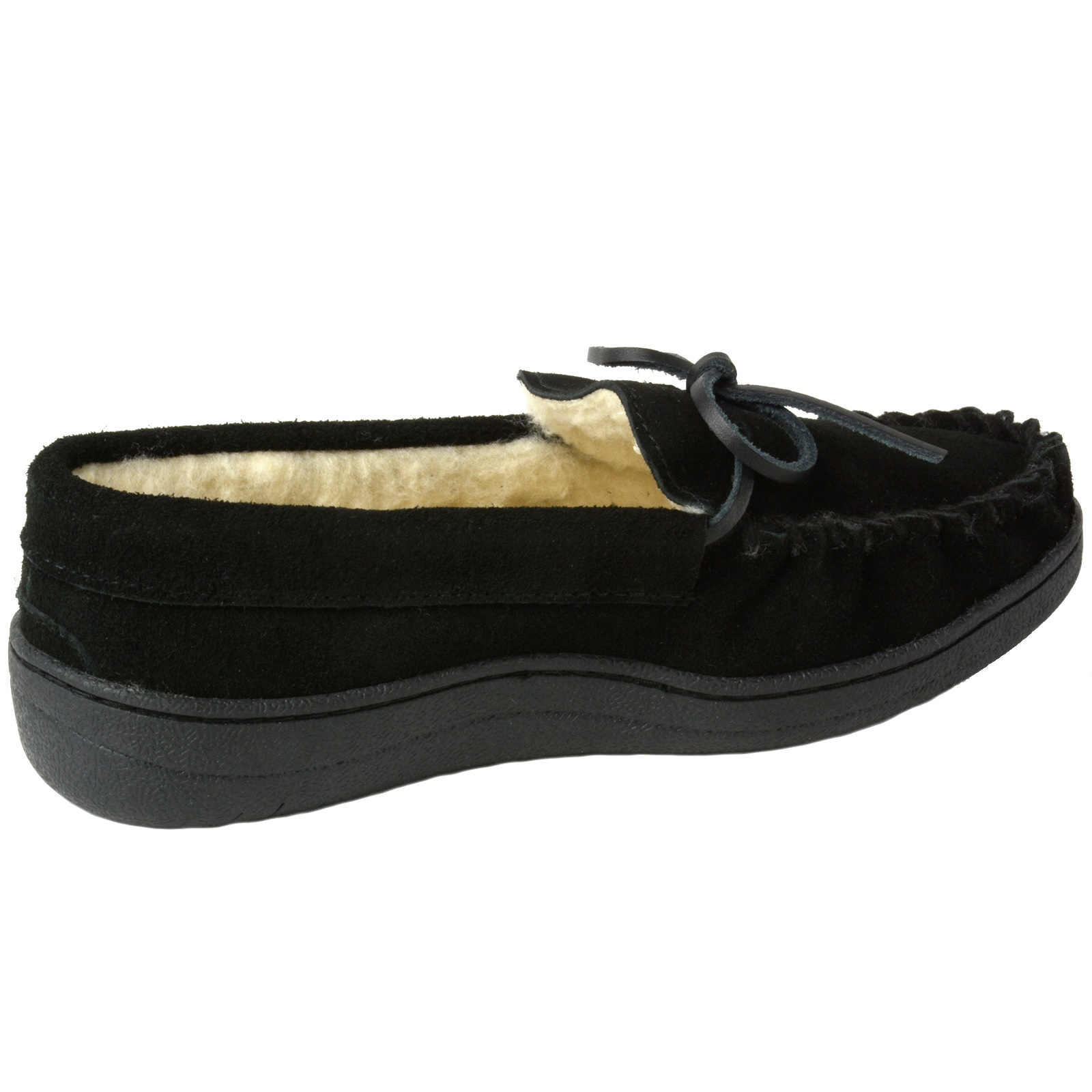 Alpine-Swiss-Sabine-Womens-Suede-Shearling-Moccasin-Slippers-House-Shoes-Slip-On miniature 14