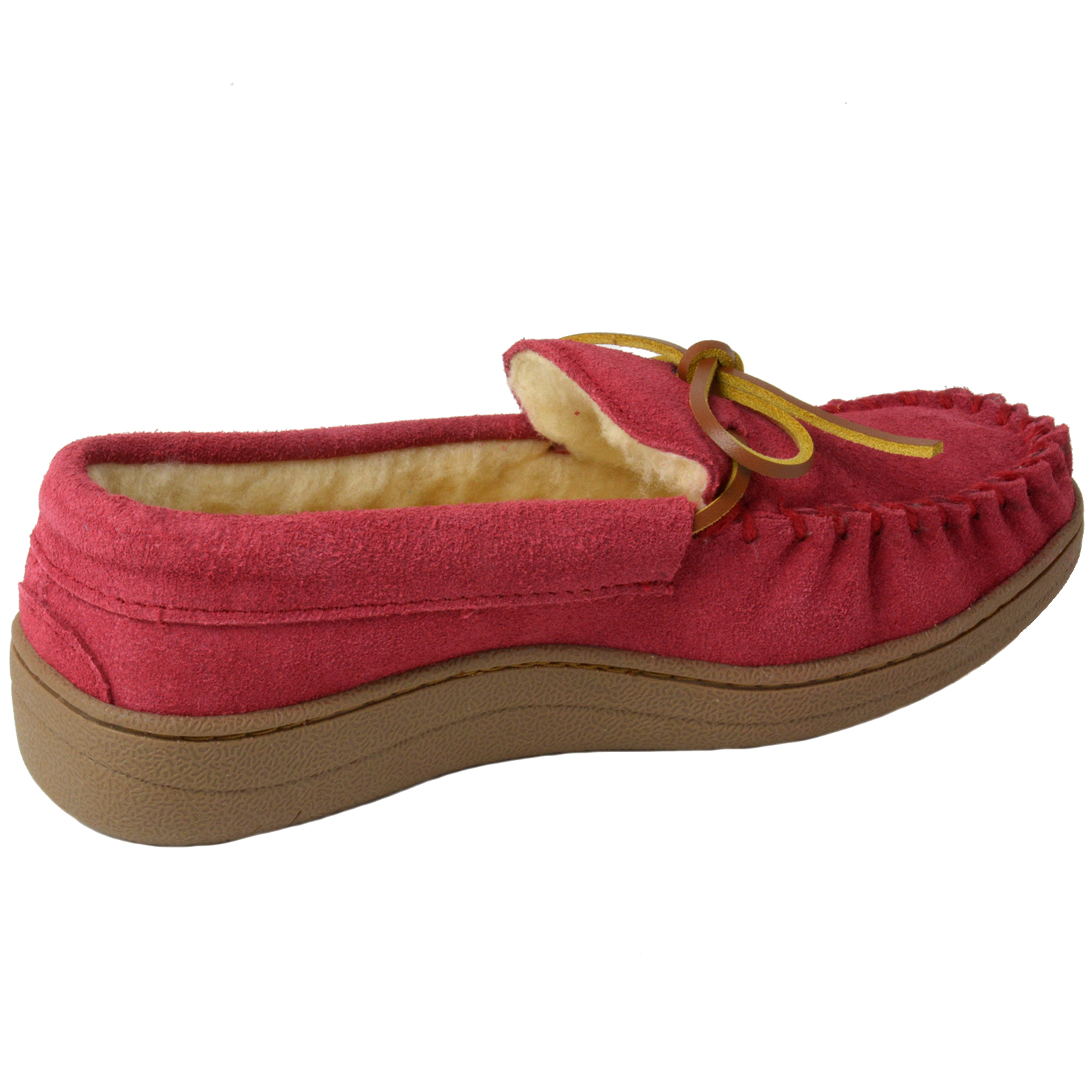 Alpine-Swiss-Sabine-Womens-Suede-Shearling-Moccasin-Slippers-House-Shoes-Slip-On miniature 43