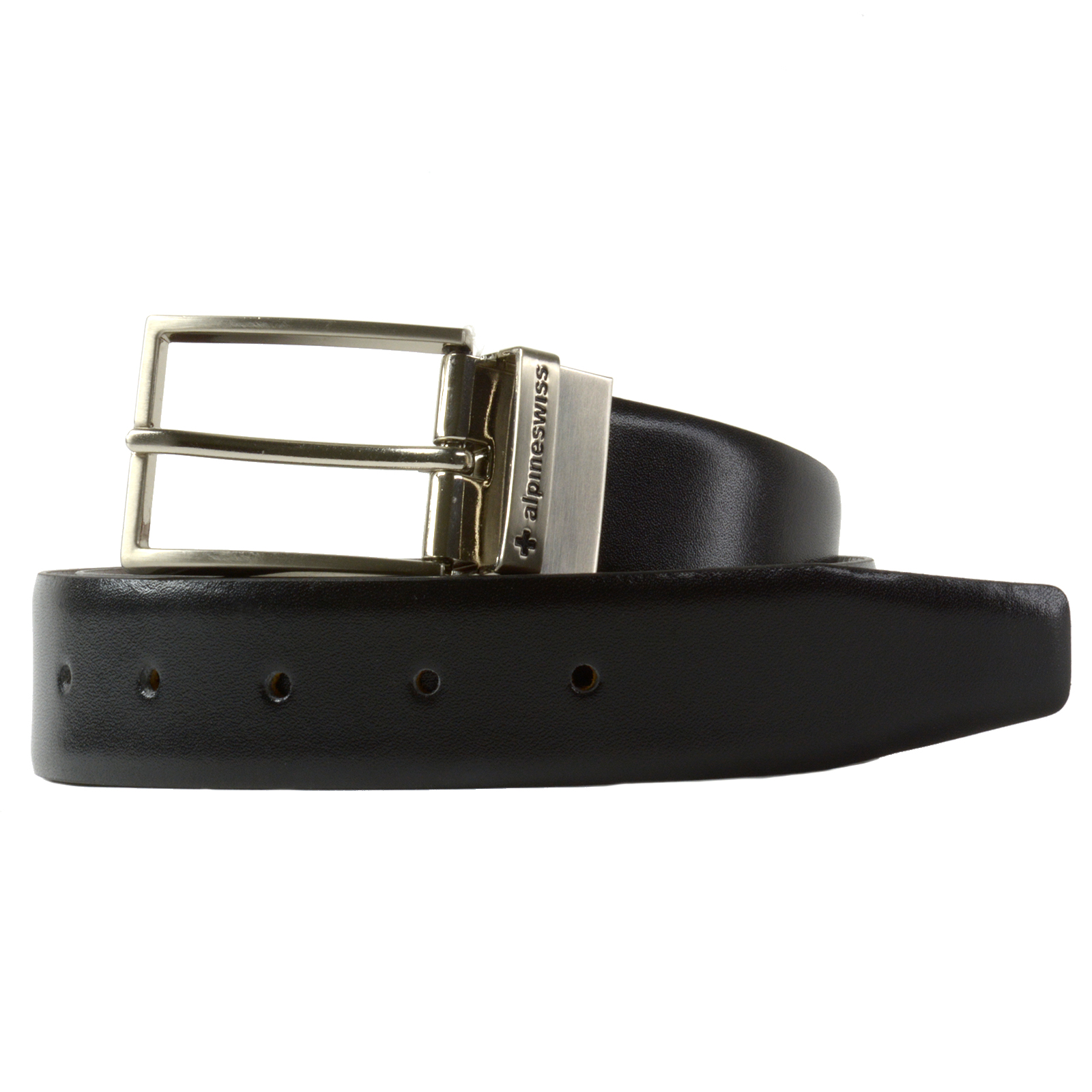Alpine-Swiss-Mens-Dress-Belt-Reversible-Black-Brown-Leather-Imported-from-Spain thumbnail 19