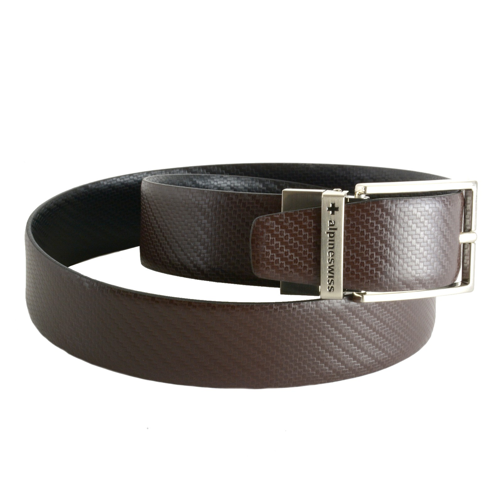 Alpine-Swiss-Mens-Dress-Belt-Reversible-Black-Brown-Leather-Imported-from-Spain thumbnail 13