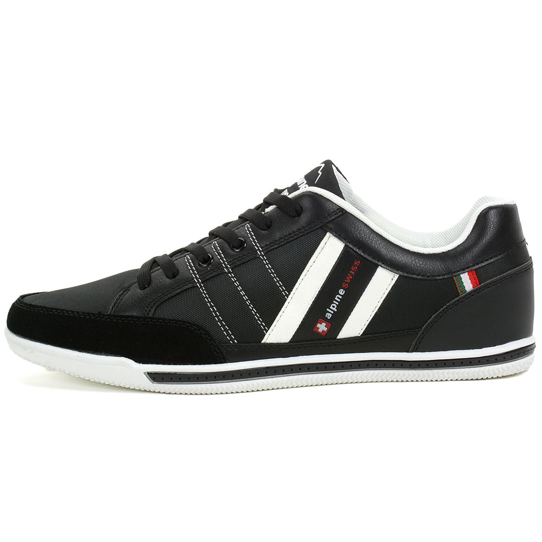 55b75310b21 Alpine Swiss Stefan Mens Retro Fashion Sneakers Tennis Shoes Casual ...