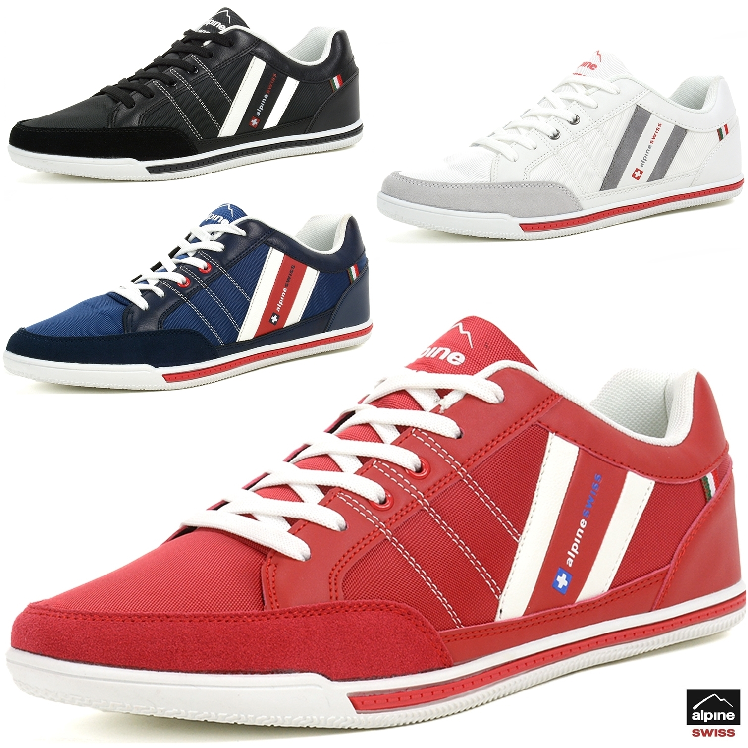 Alpine Swiss Stefan Mens Retro Fashion Sneakers Tennis Shoes Casual Athletic New Ebay