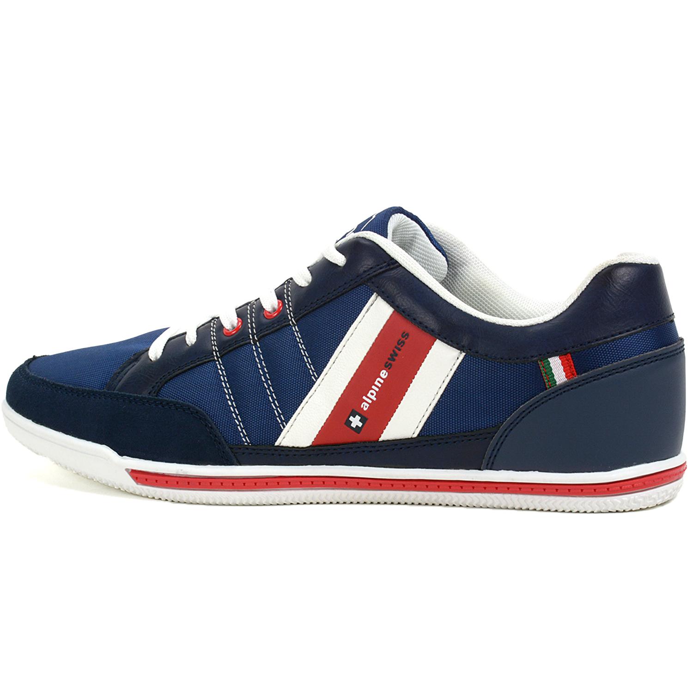 d2dc7c2430c77 Alpine Swiss Stefan Mens Retro Fashion Sneakers Tennis Shoes Casual ...