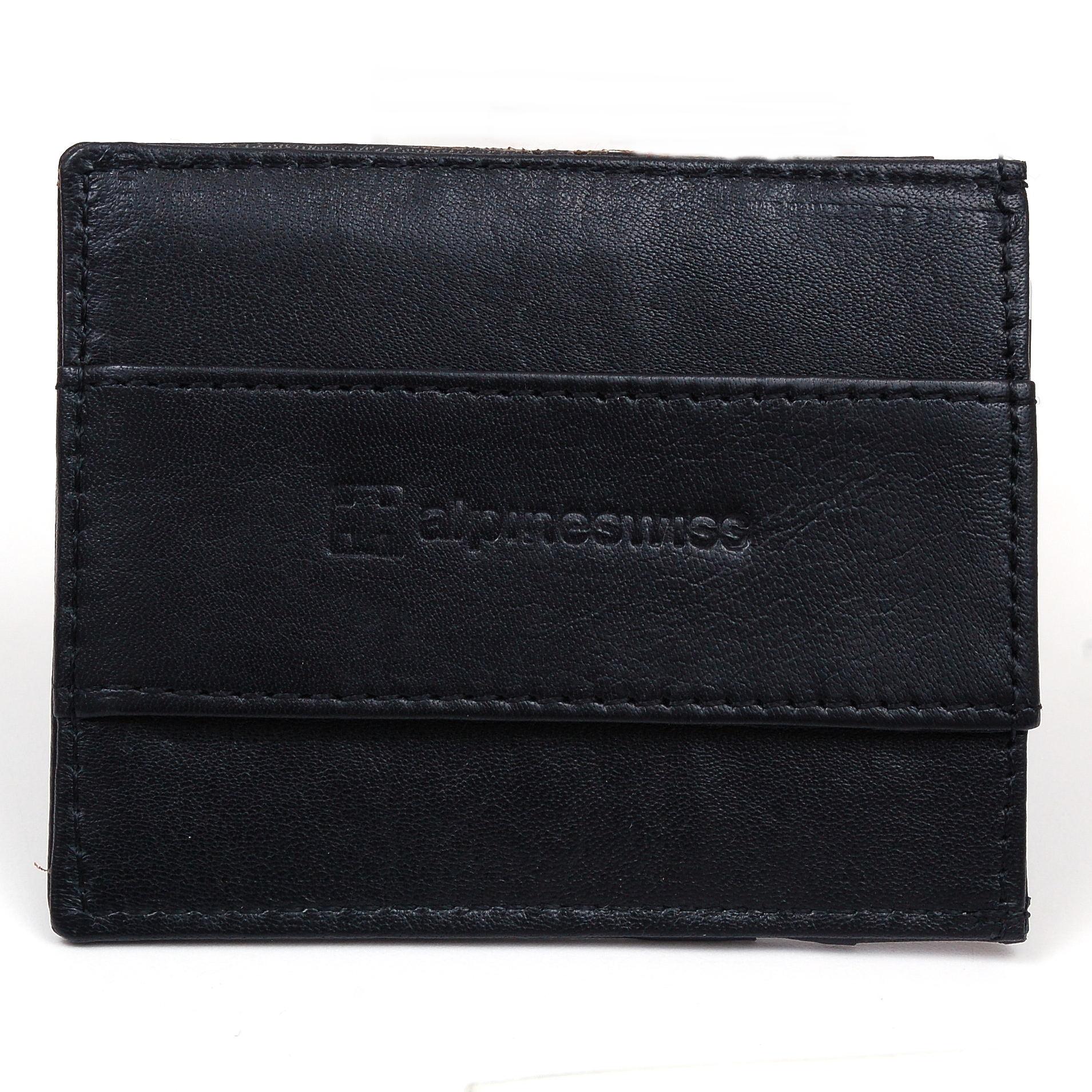 Alpine Swiss Men S Rfid Blocking Minimalist Wallet Leather