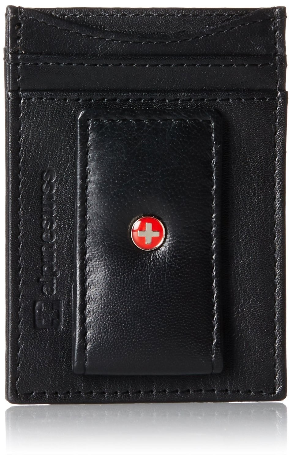AlpineSwiss-Mens-Leather-Money-Clip-Magnet-Front-Pocket-Wallet-Slim-ID-Card-Case thumbnail 27