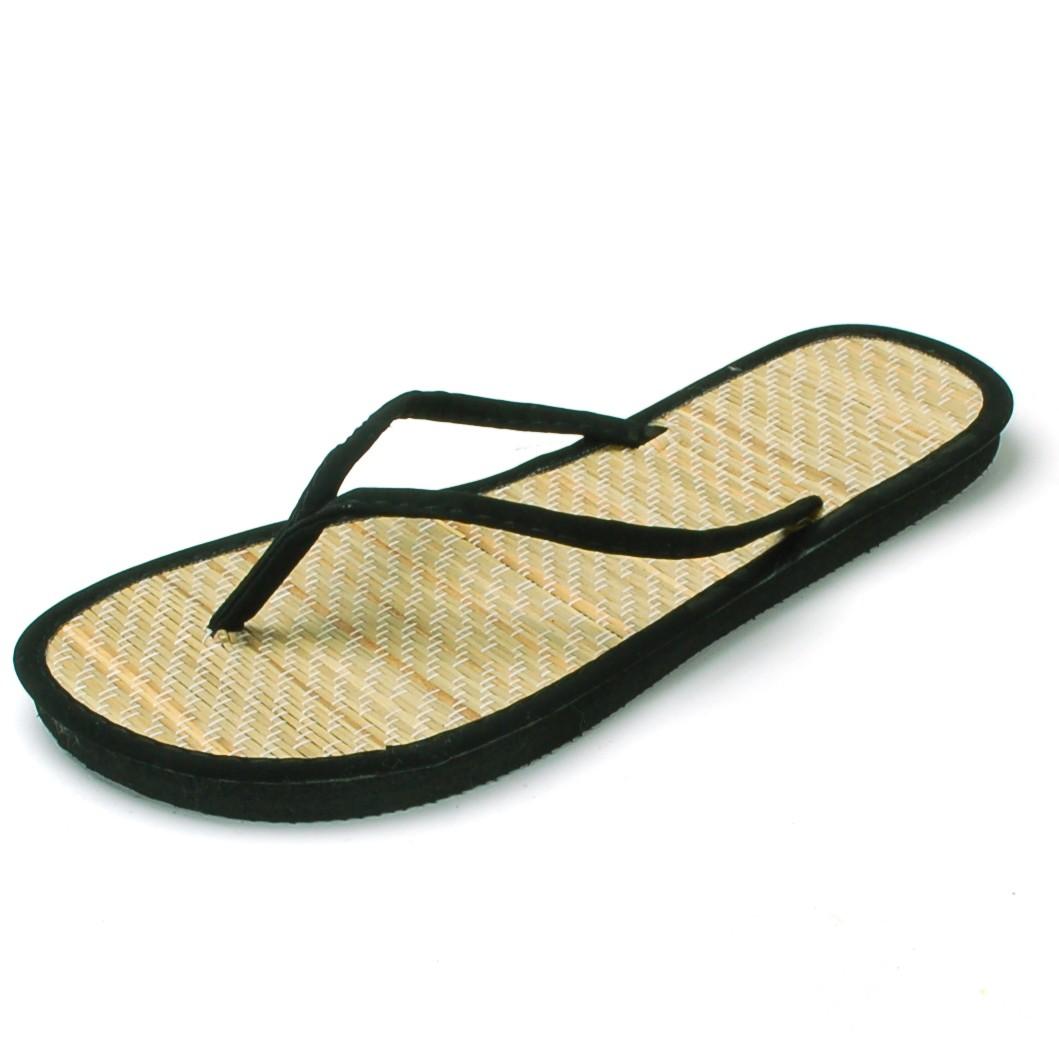 85a98390f86 Womens Bamboo Sandal Flip Flops Light Flats Beach Summer Shoe Comfort  Thongs New
