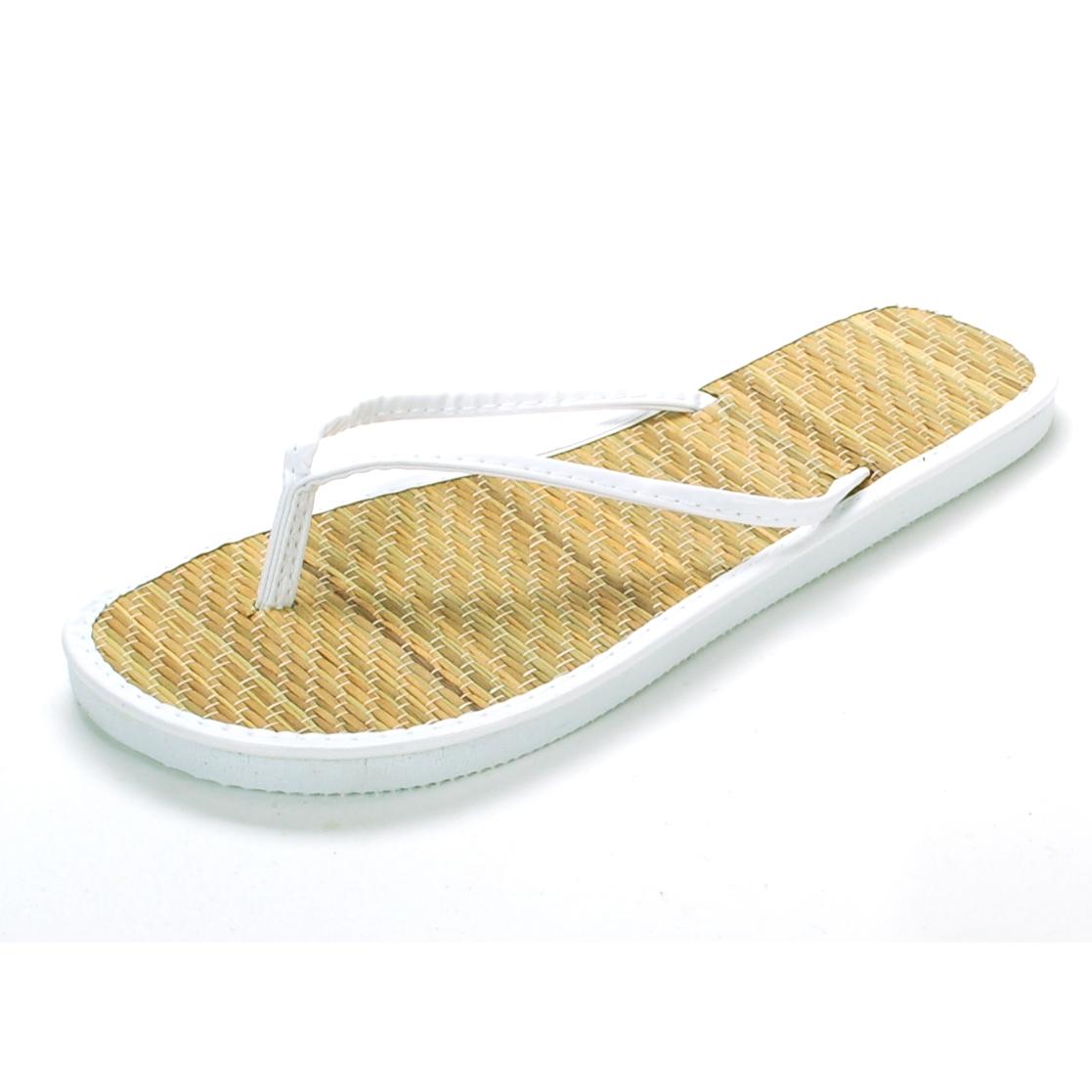 ae6cb1356c1 Womens Bamboo Sandal Flip Flops Light Flats Beach Summer Shoe Comfort Thongs  New