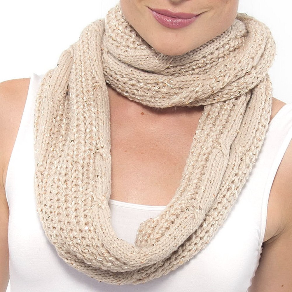 AlpineSwiss-Womens-Infinity-Scarf-Sparkly-Sequin-Neck-Loop-Wrap-Soft-Winter-Cowl