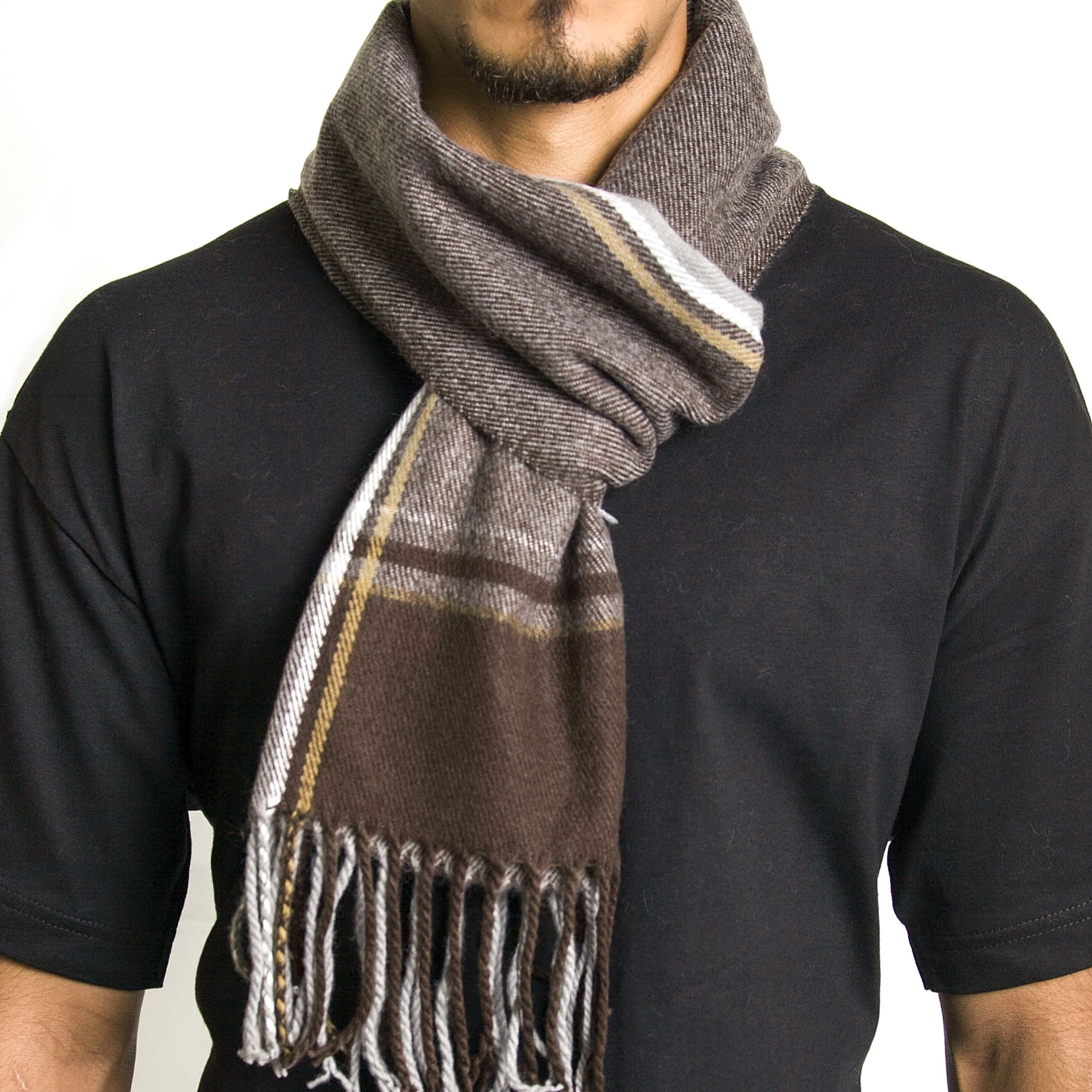 Alpine Swiss Mens Scarf Softer Than Cashmere Scarves Plaids Womens Winter Shawl