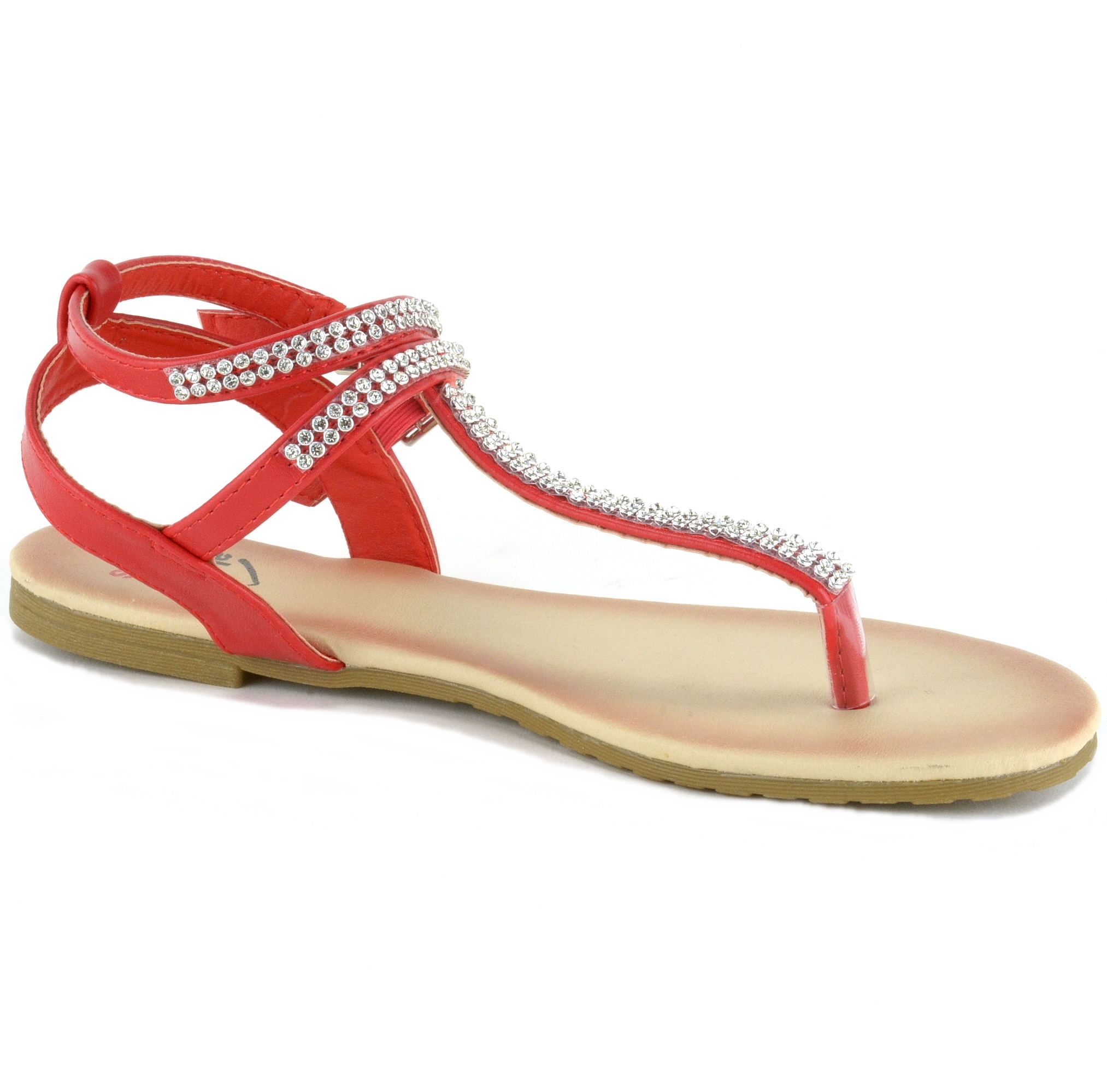 8e0bc38447ac Alpine Swiss Womens Gladiator Sandals T-Strap Slingback Roman ...