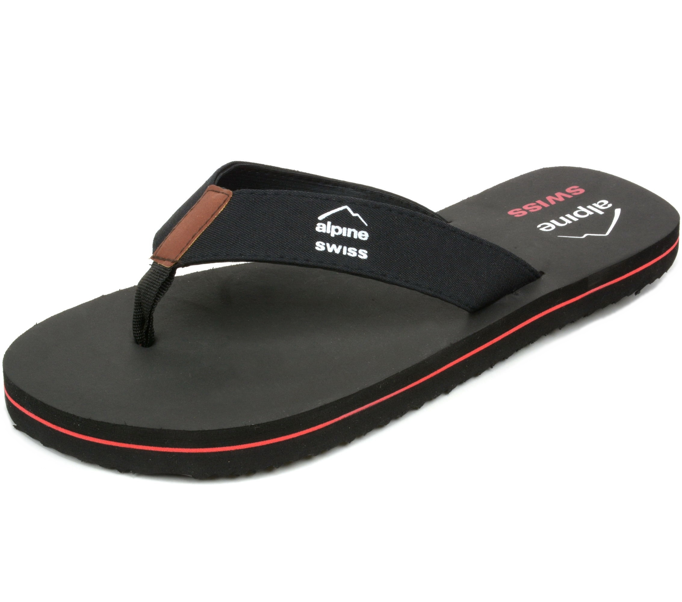 e1de50b0c307ac Alpine Swiss Mens Flip Flops Beach Sandals Lightweight EVA Sole Comfort  Thongs