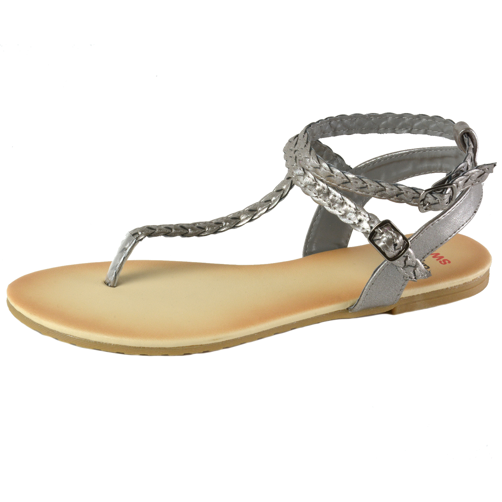 9ac220fbc433f0 Alpine Swiss Womens Gladiator Sandals Braided T-Strap Slingback ...