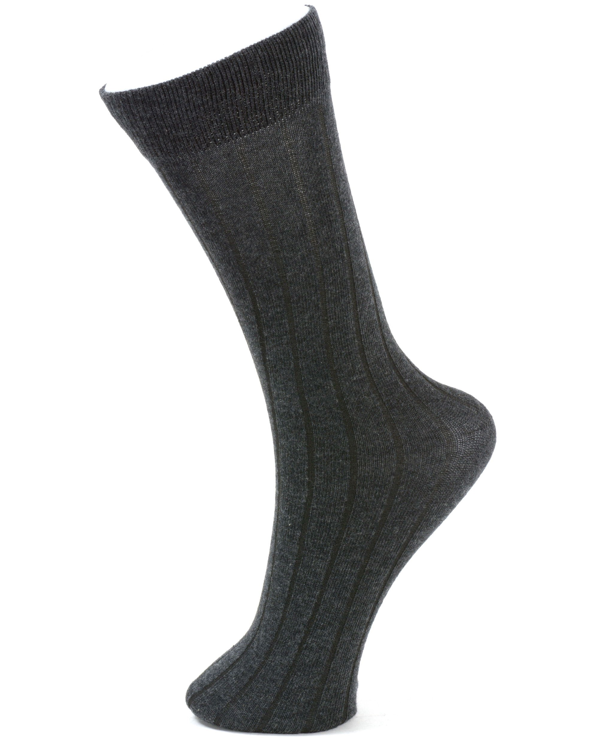 Alpine-Swiss-6-Pack-Men-039-s-Cotton-Dress-Socks-Mid-Calf-Argyle-Pattern-Solids-Set