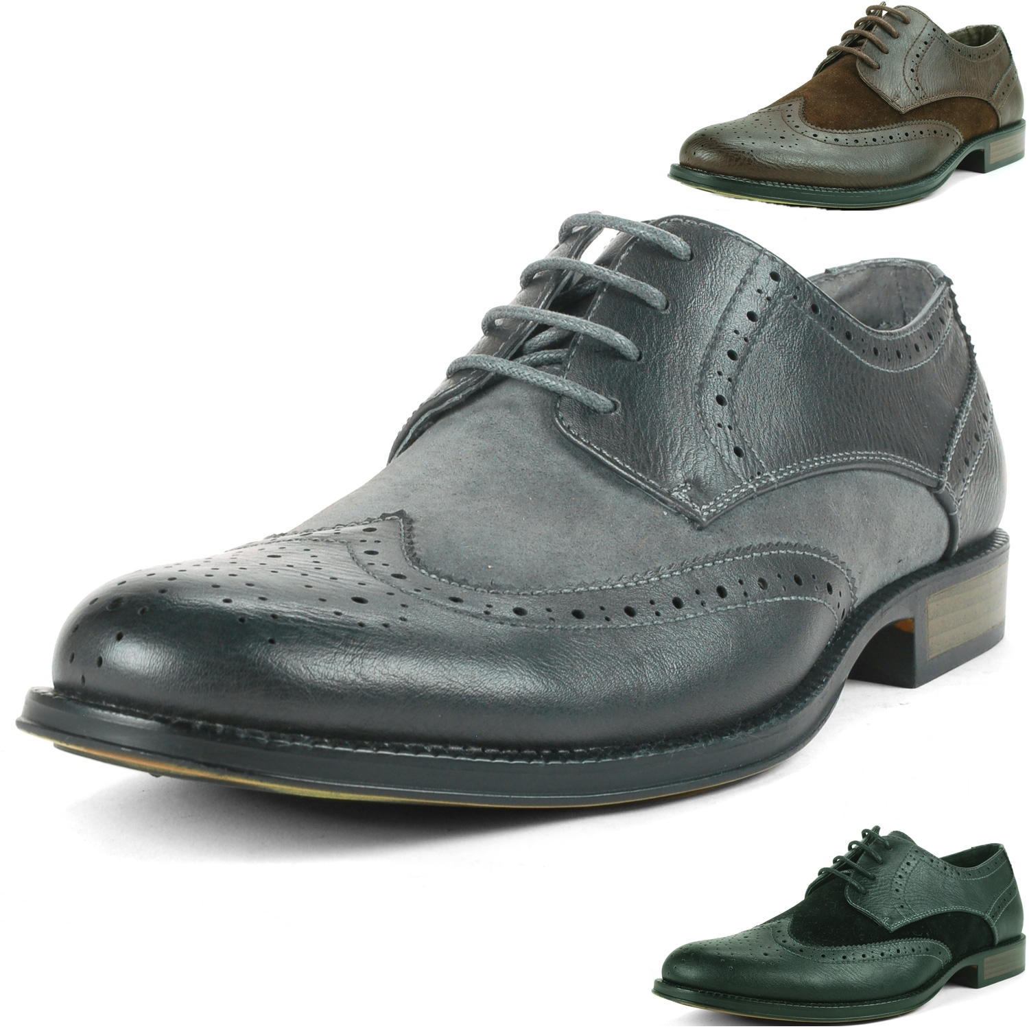 Alpine Swiss Zurich Men's Wing Tip Dress Shoes Two Tone ...