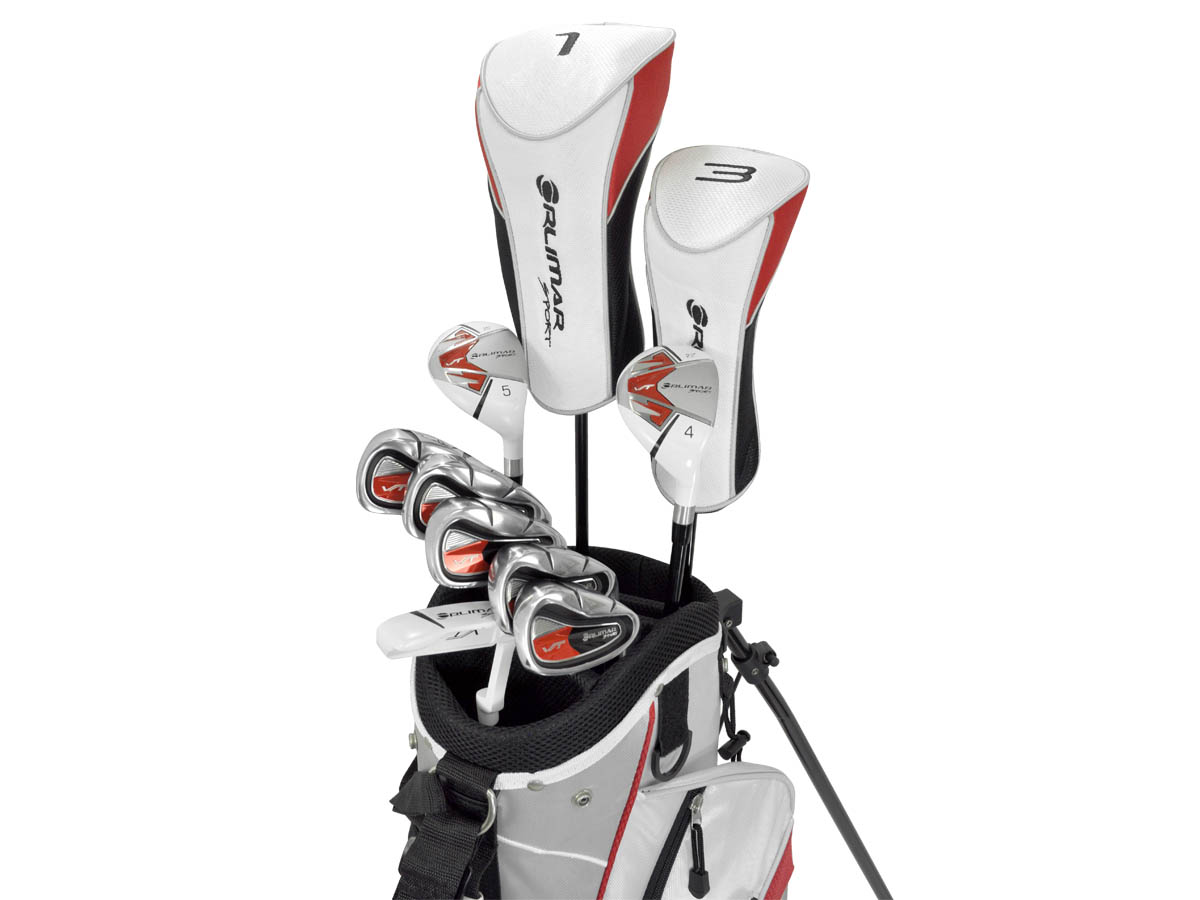 orlimar vt sport white 13 piece complete golf set left. Black Bedroom Furniture Sets. Home Design Ideas
